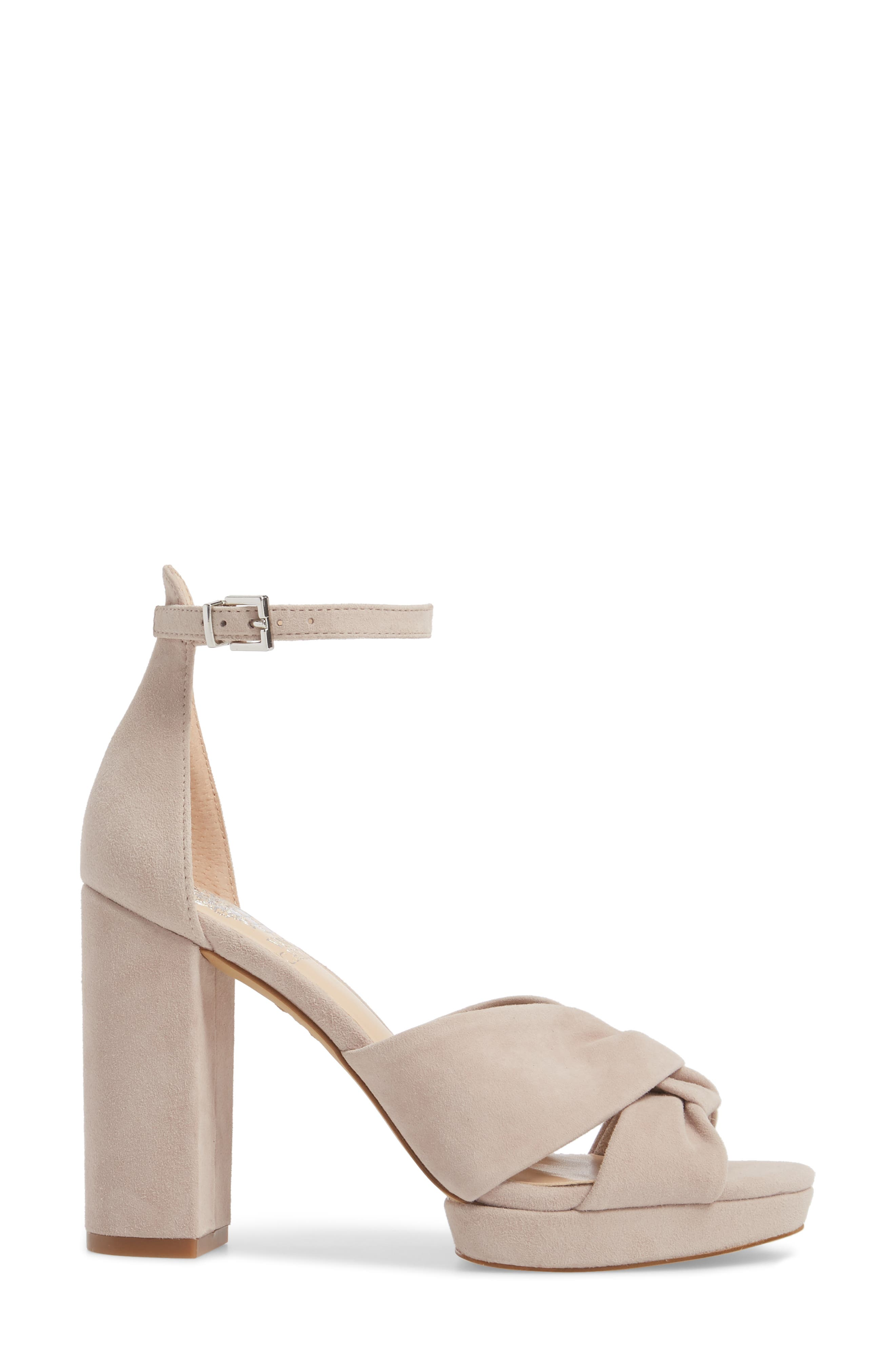 Corlesta Sandal,                             Alternate thumbnail 3, color,                             TIPSY TAUPE SUEDE