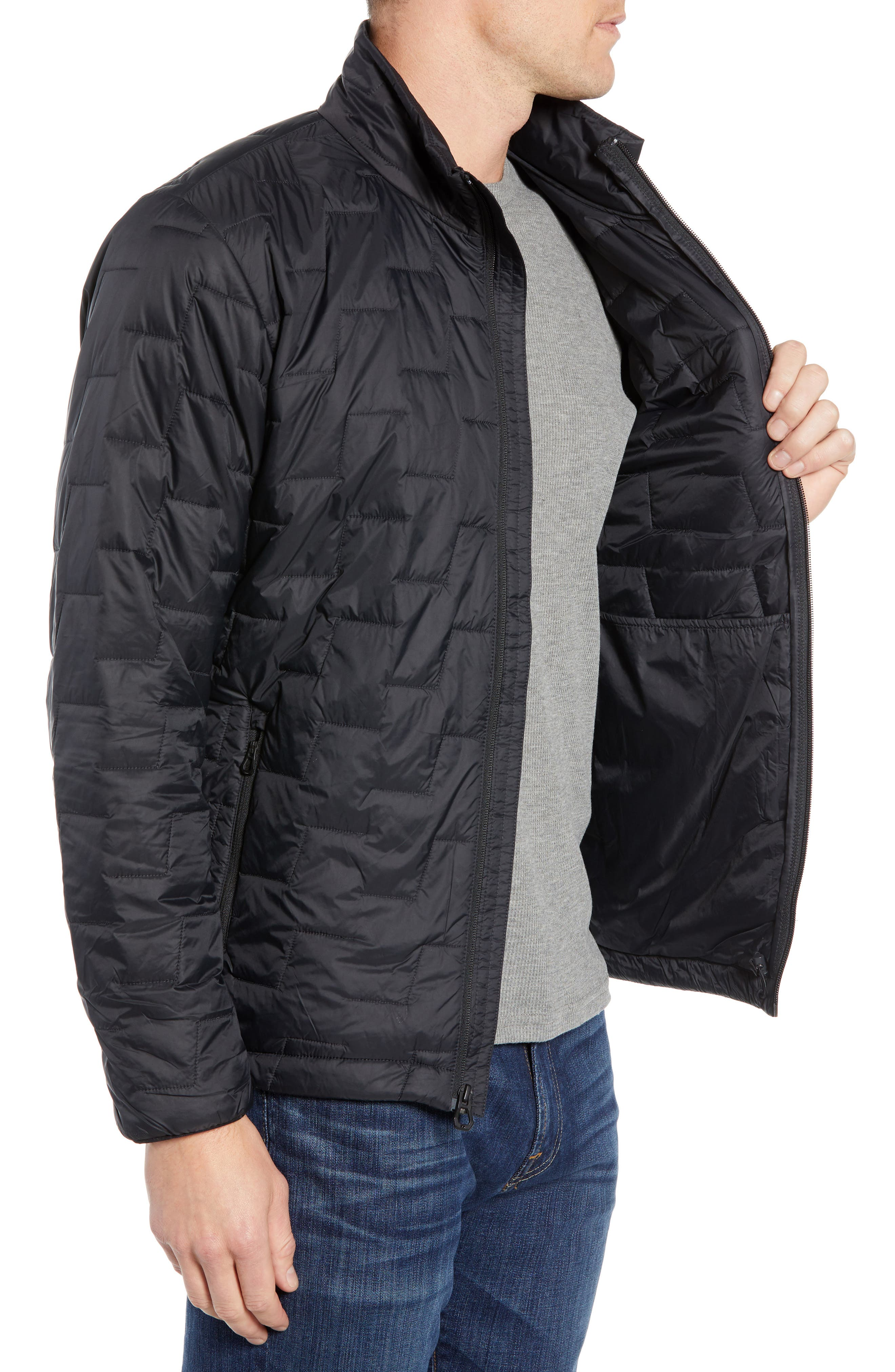 Lifaloft Insulator Jacket,                             Alternate thumbnail 3, color,                             BLACK MATTE