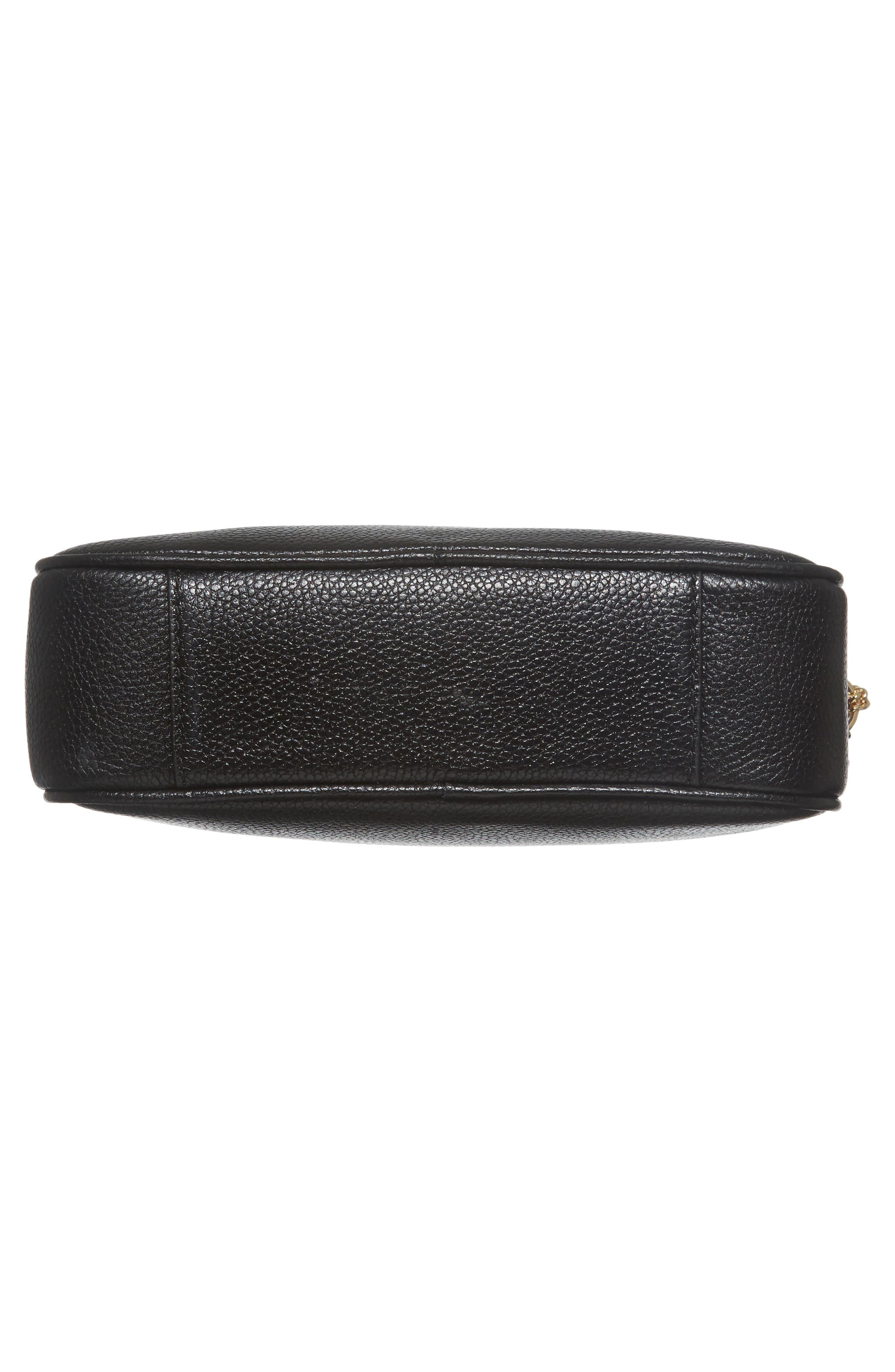 MICHAEL Michael Kors Medium Ginny Leather Camera Bag,                             Alternate thumbnail 6, color,                             001