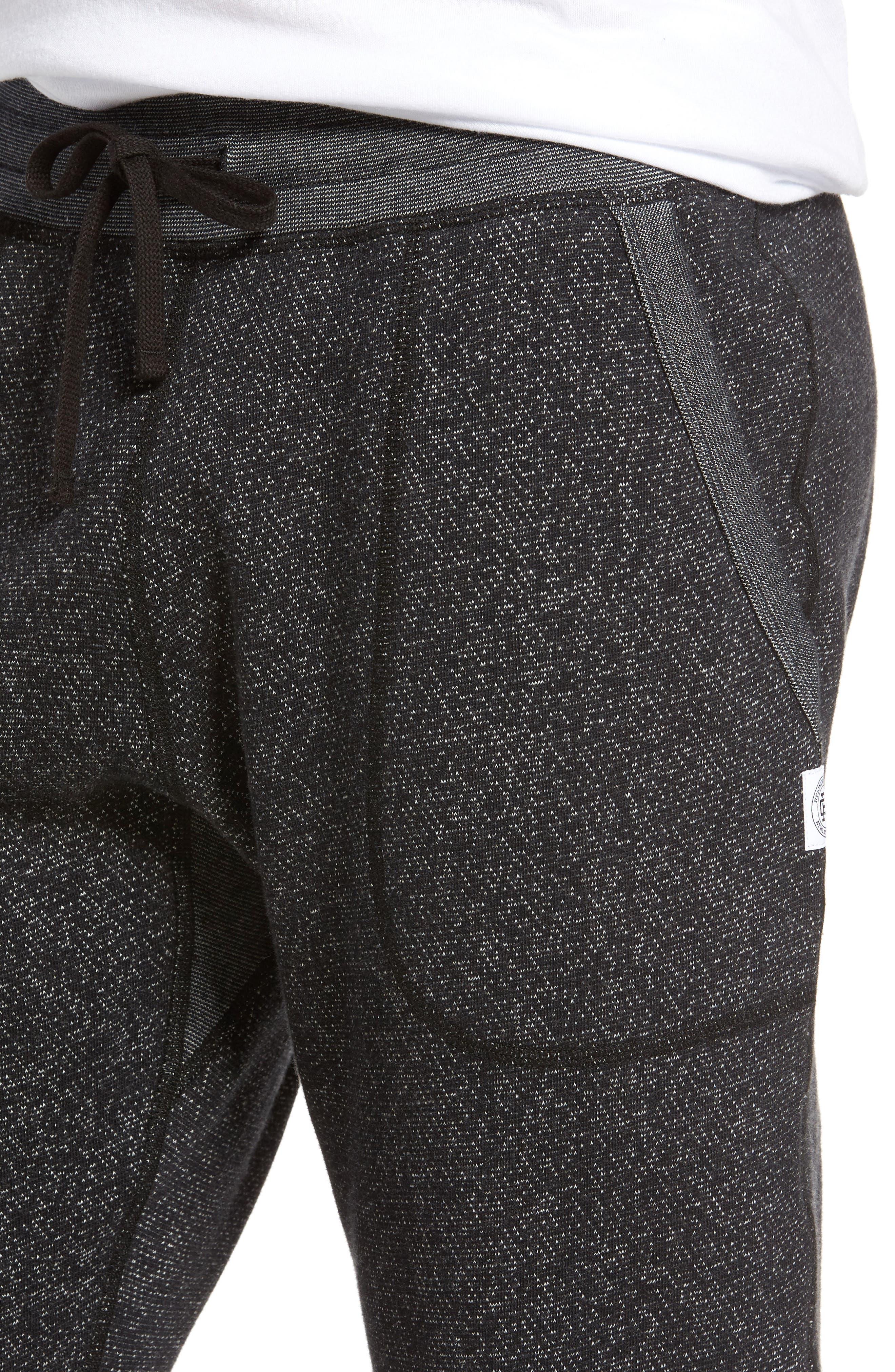 Tiger Slim Jogger Sweatpants,                             Alternate thumbnail 4, color,                             BLACK