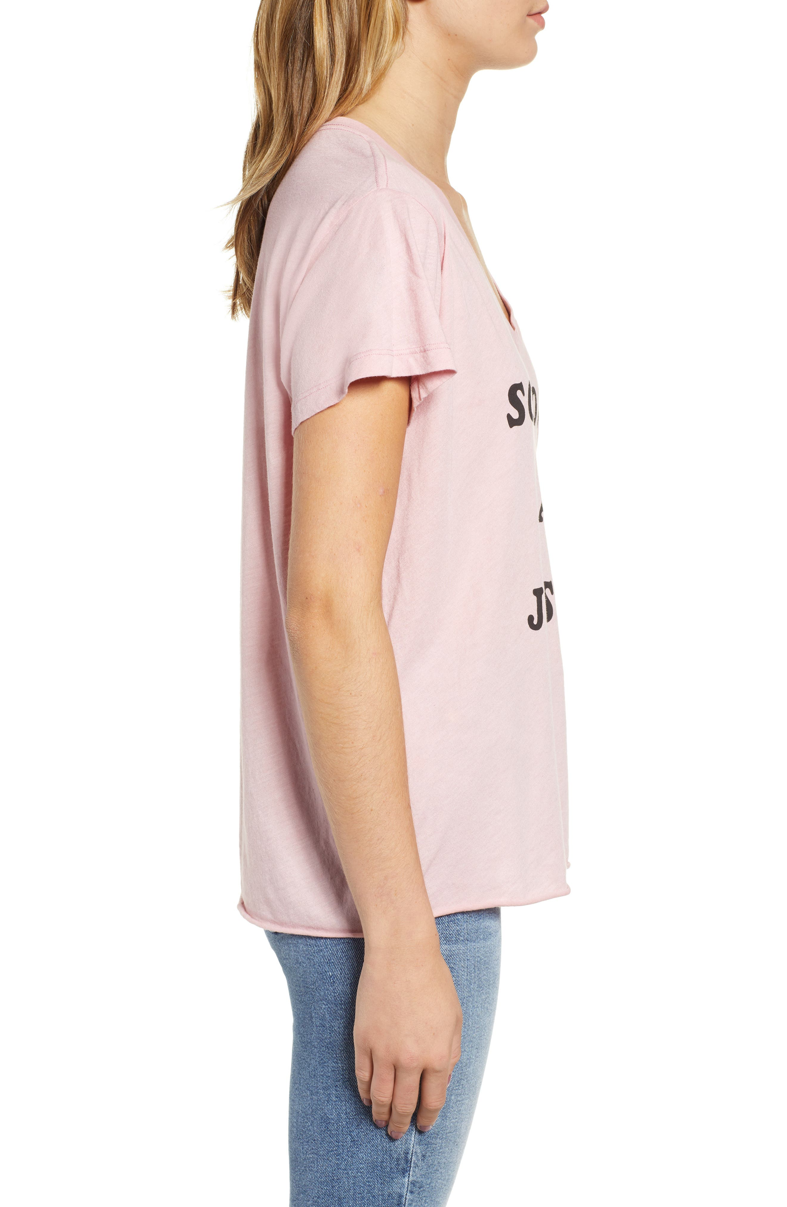 Romeo - Just Not Me V-Neck Tee,                             Alternate thumbnail 3, color,                             TAUPE ROSE