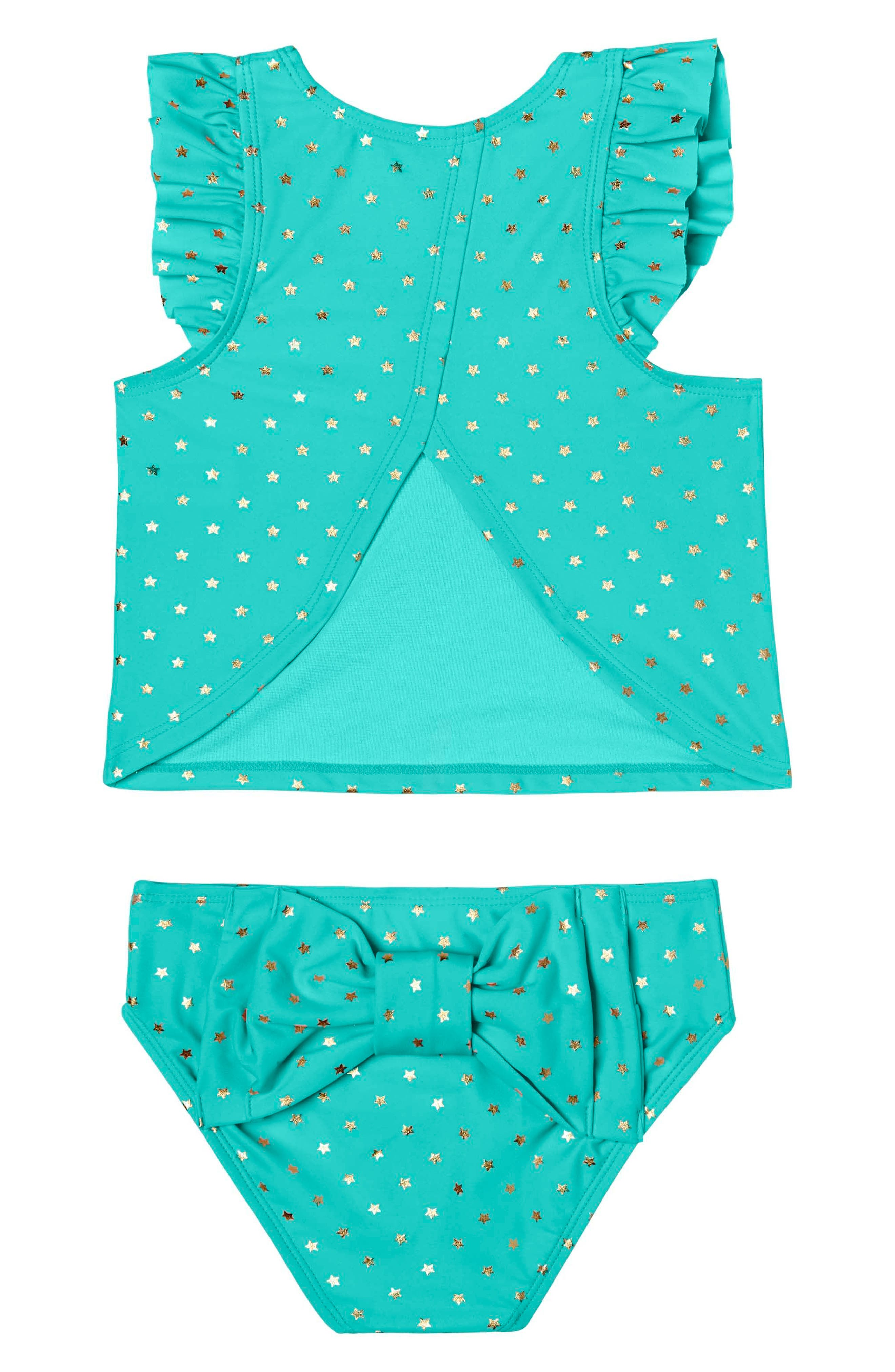 Twinkle Star Two-Piece Tankini Swimsuit,                         Main,                         color, 303