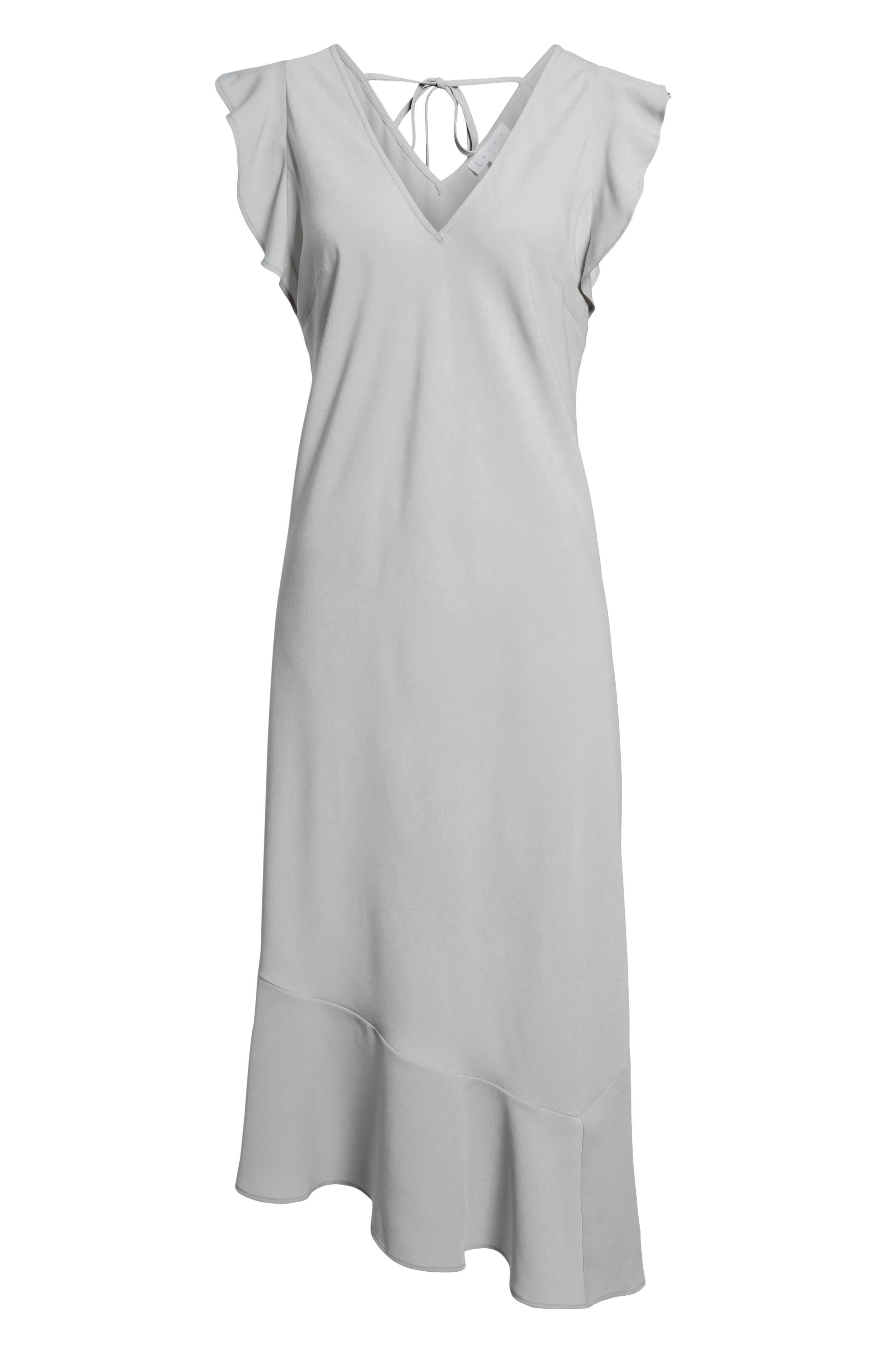 Bias Cut Asymmetrical Dress,                             Alternate thumbnail 7, color,