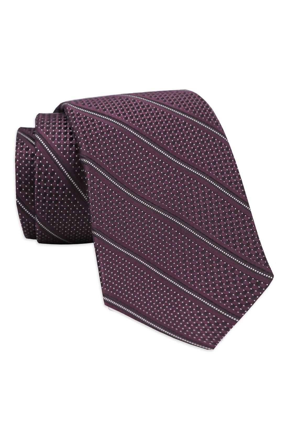 Stripe Woven Silk Tie,                             Main thumbnail 3, color,
