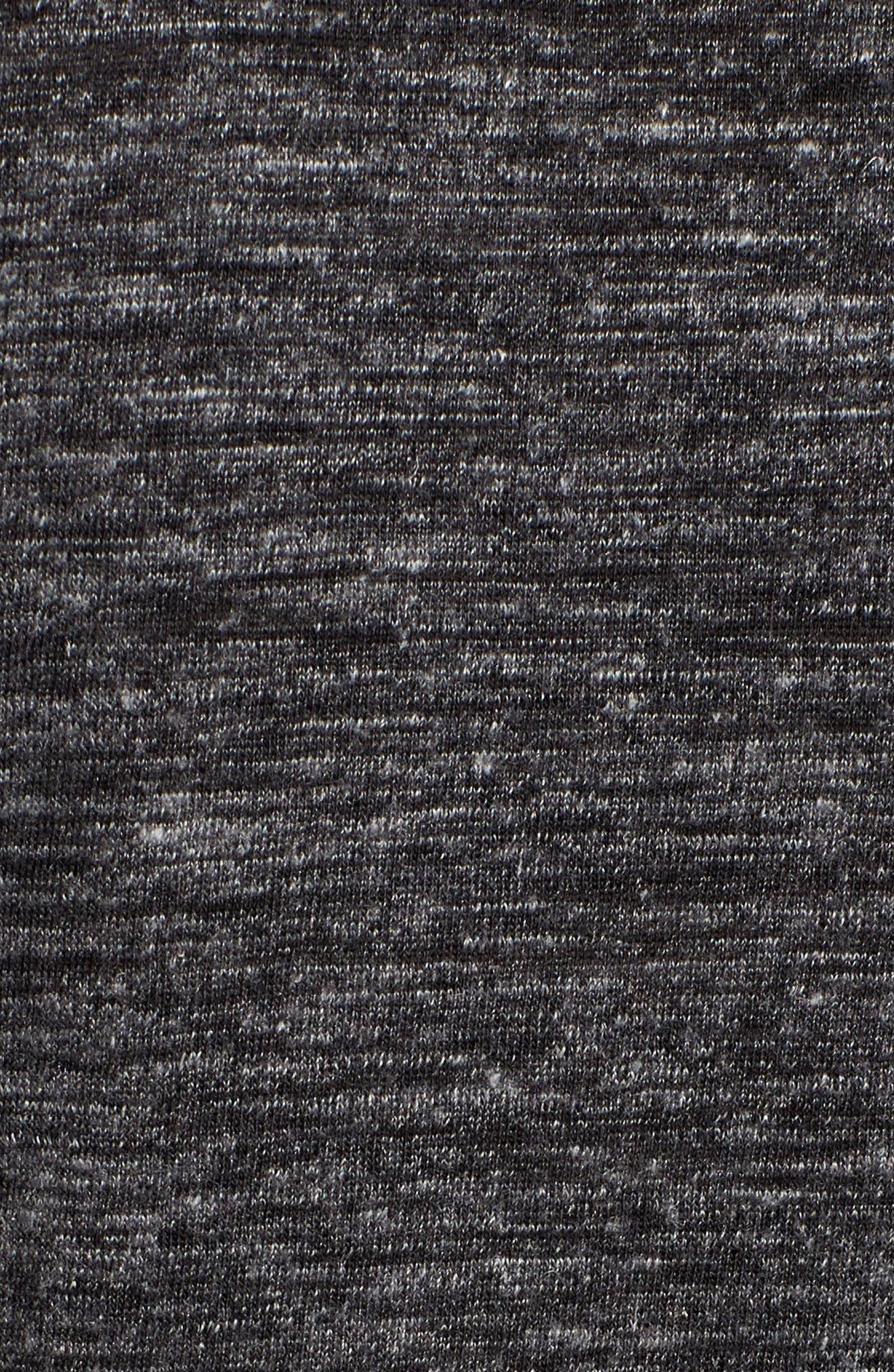 Long Sleeve Knit Tee,                             Alternate thumbnail 5, color,                             001