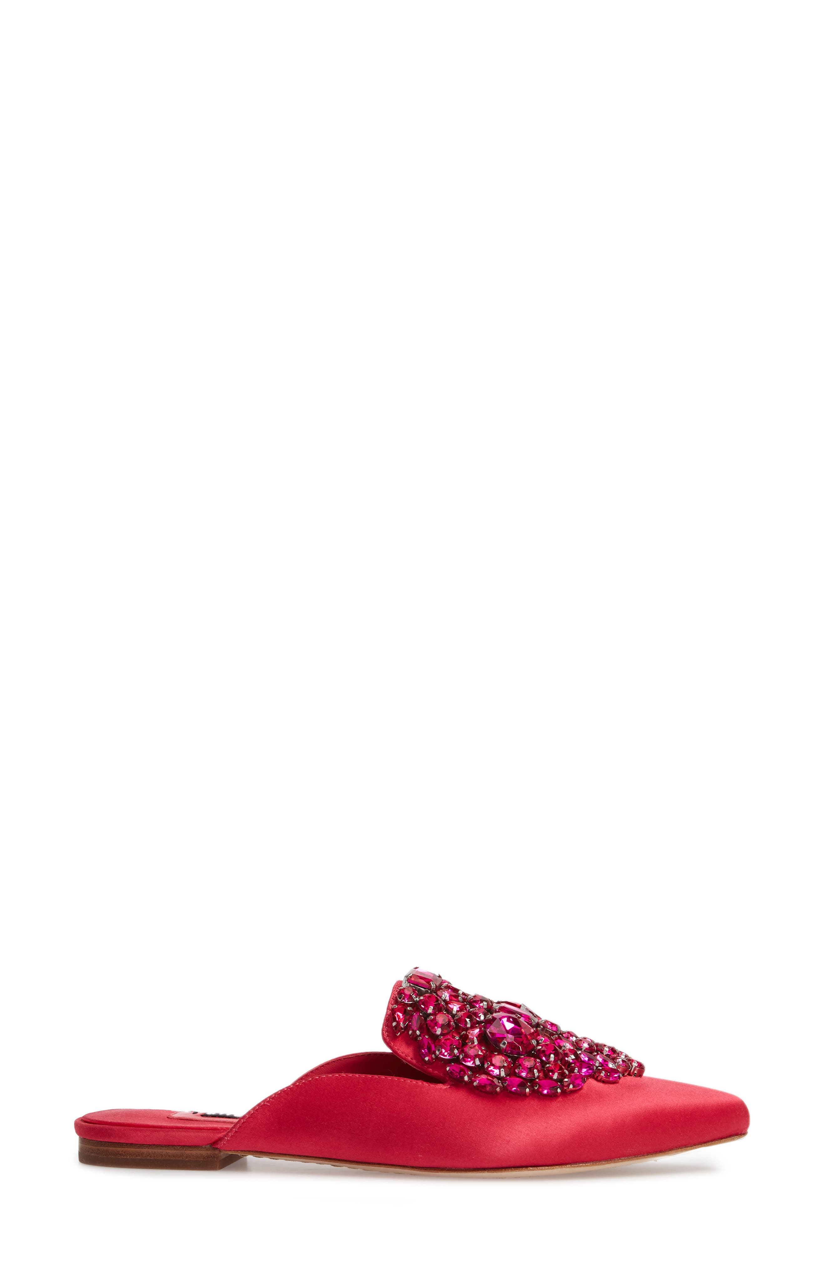 Lilly Crystal Embellished Loafer Mule,                             Alternate thumbnail 3, color,                             650