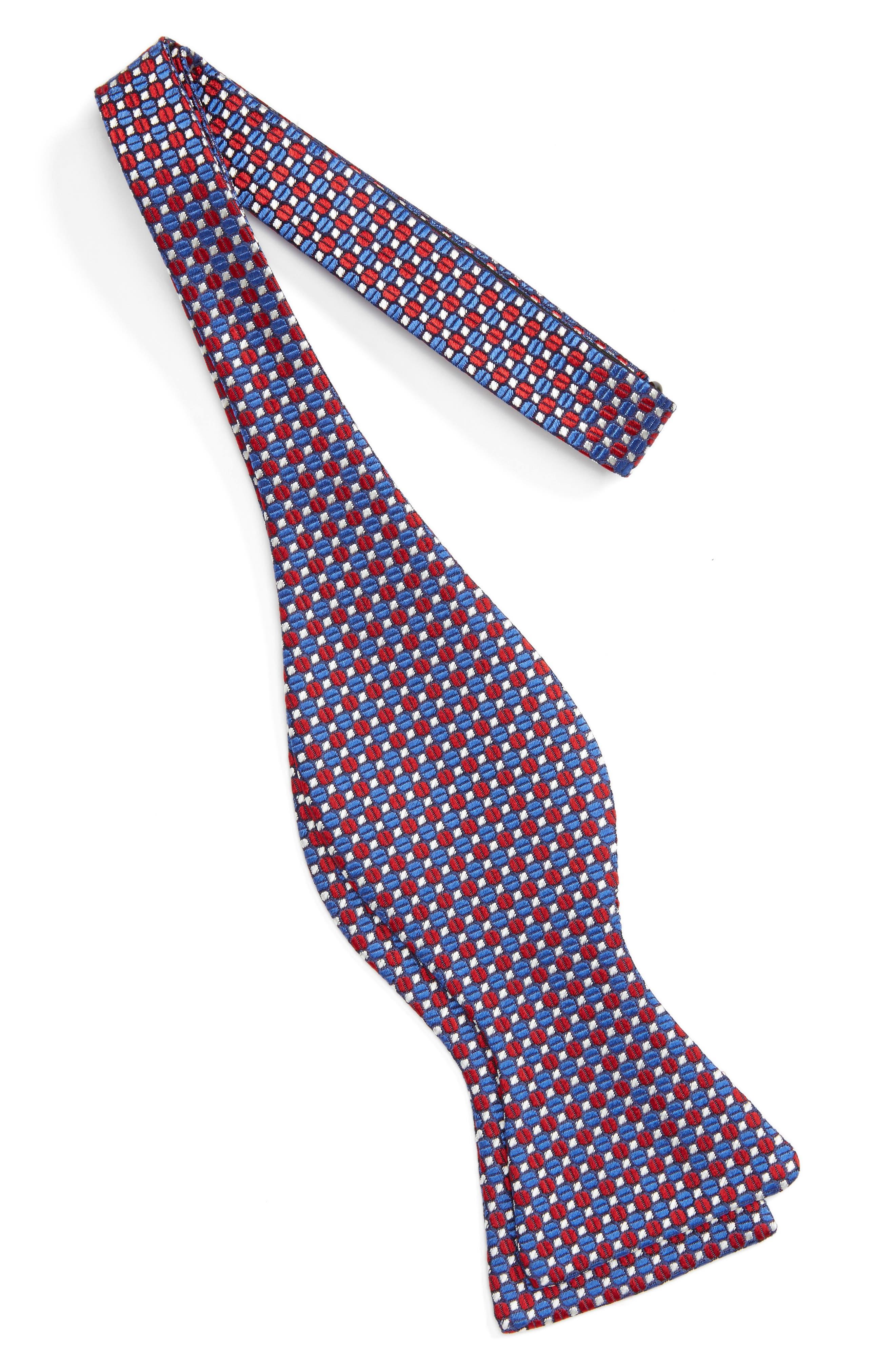 Geometric Silk Bow Tie,                             Alternate thumbnail 5, color,