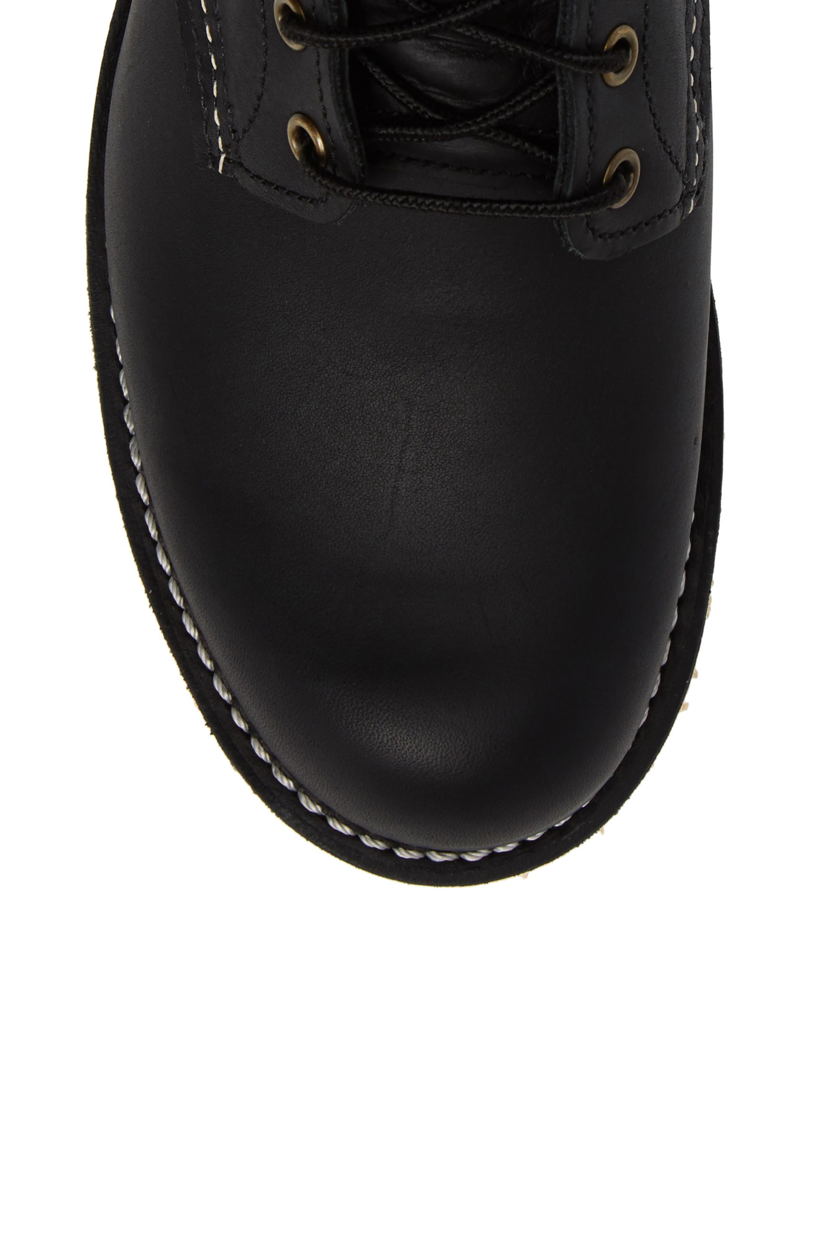Rover Plain Toe Boot,                             Alternate thumbnail 5, color,                             BLACK HARNESS LEATHER