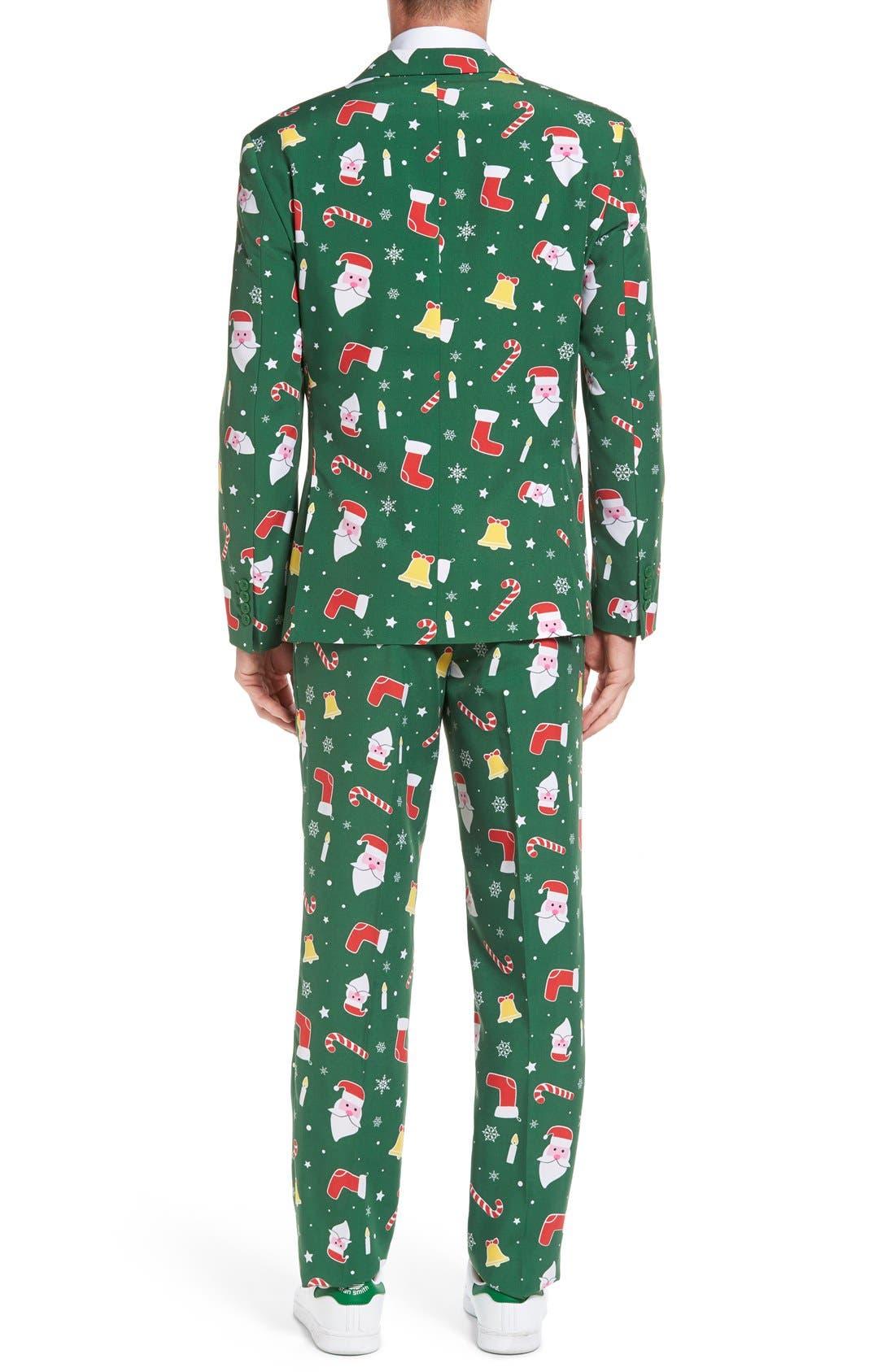 'Santaboss' Trim Fit Two-Piece Suit with Tie,                             Alternate thumbnail 2, color,                             301