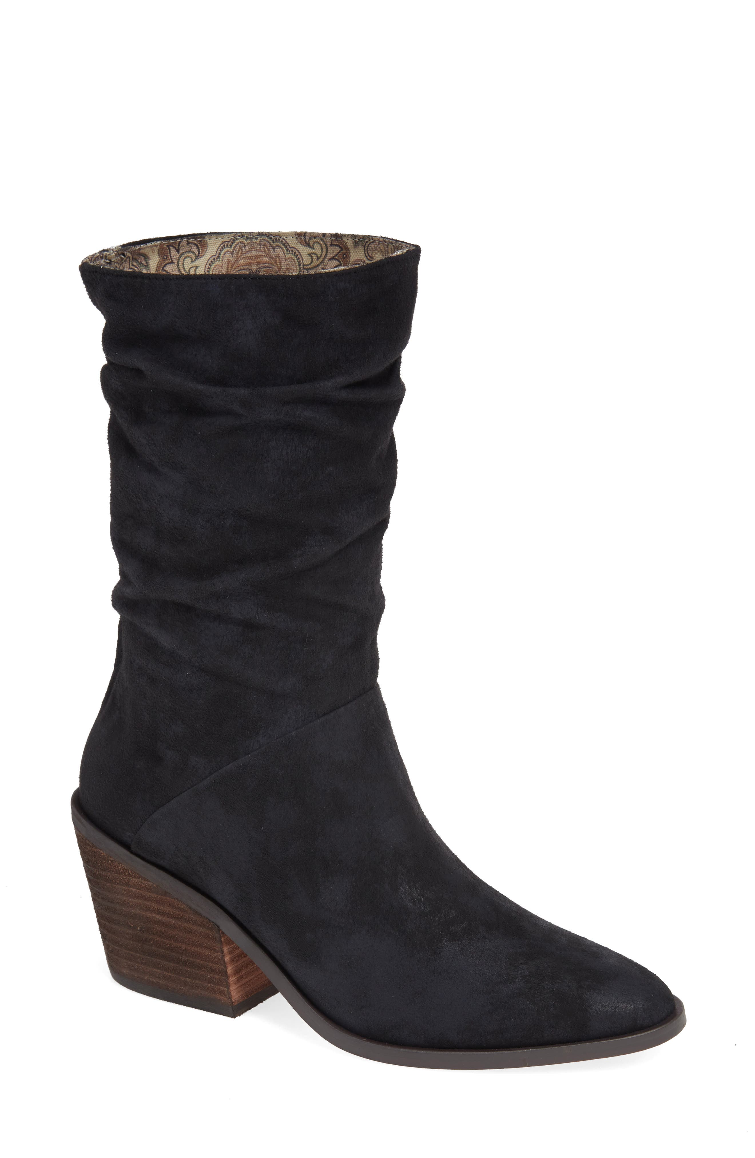 BAND OF GYPSIES Crash Bootie in Black Burnished Micro