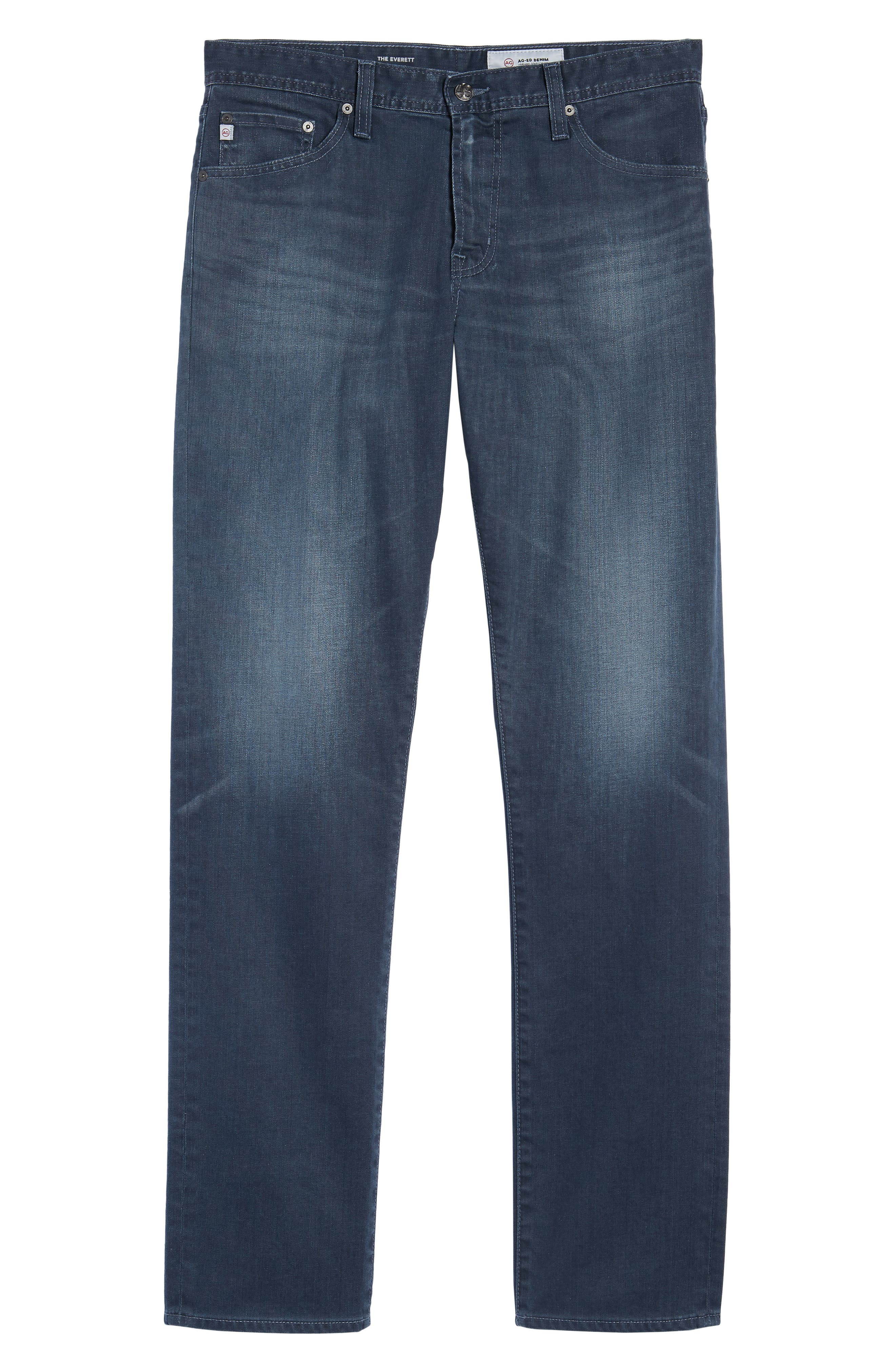 Everett Slim Straight Leg Jeans,                             Alternate thumbnail 6, color,                             9 YEARS TIDEPOOL