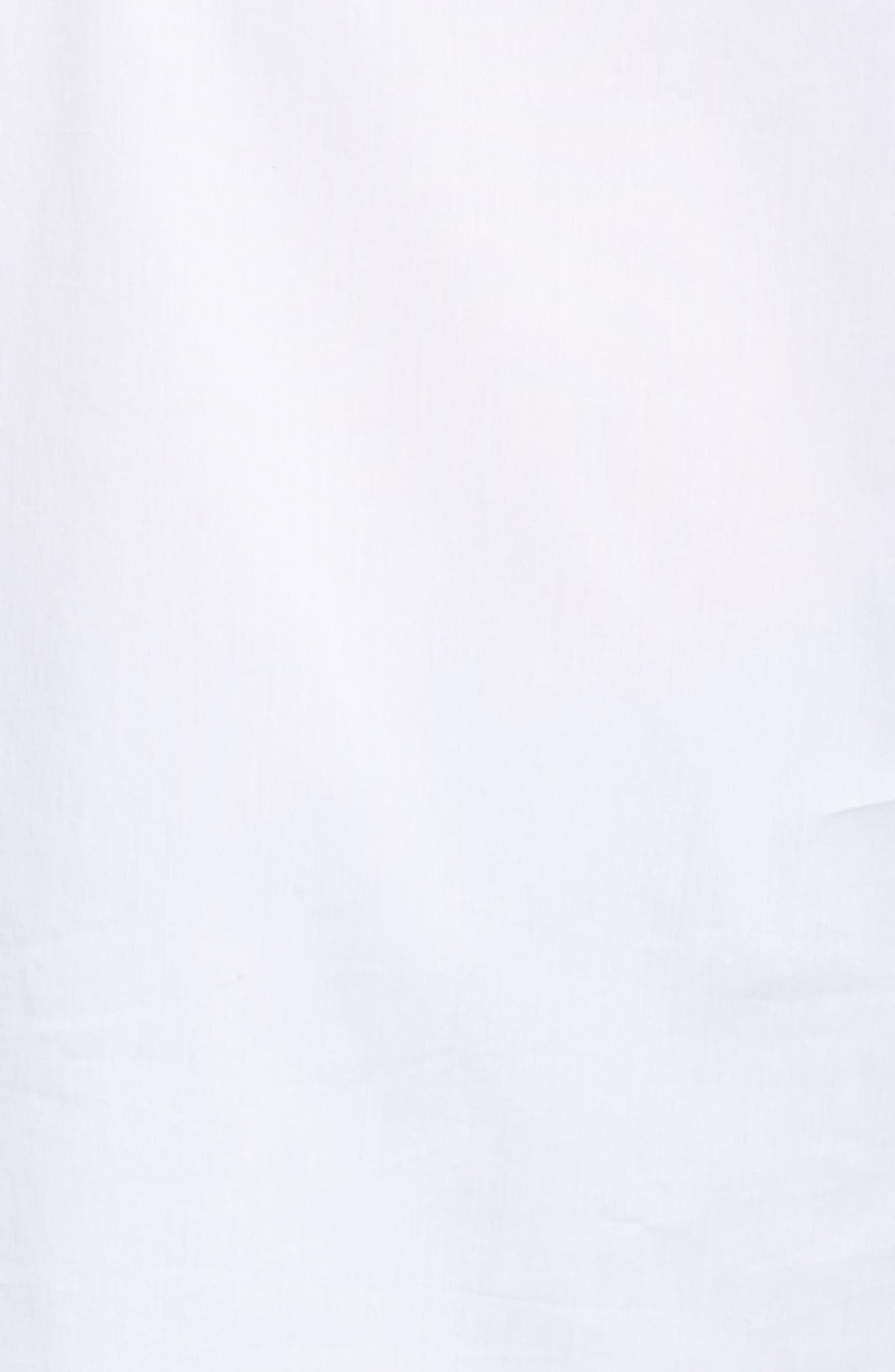 Flare Sleeve Poplin Top,                             Alternate thumbnail 5, color,                             100