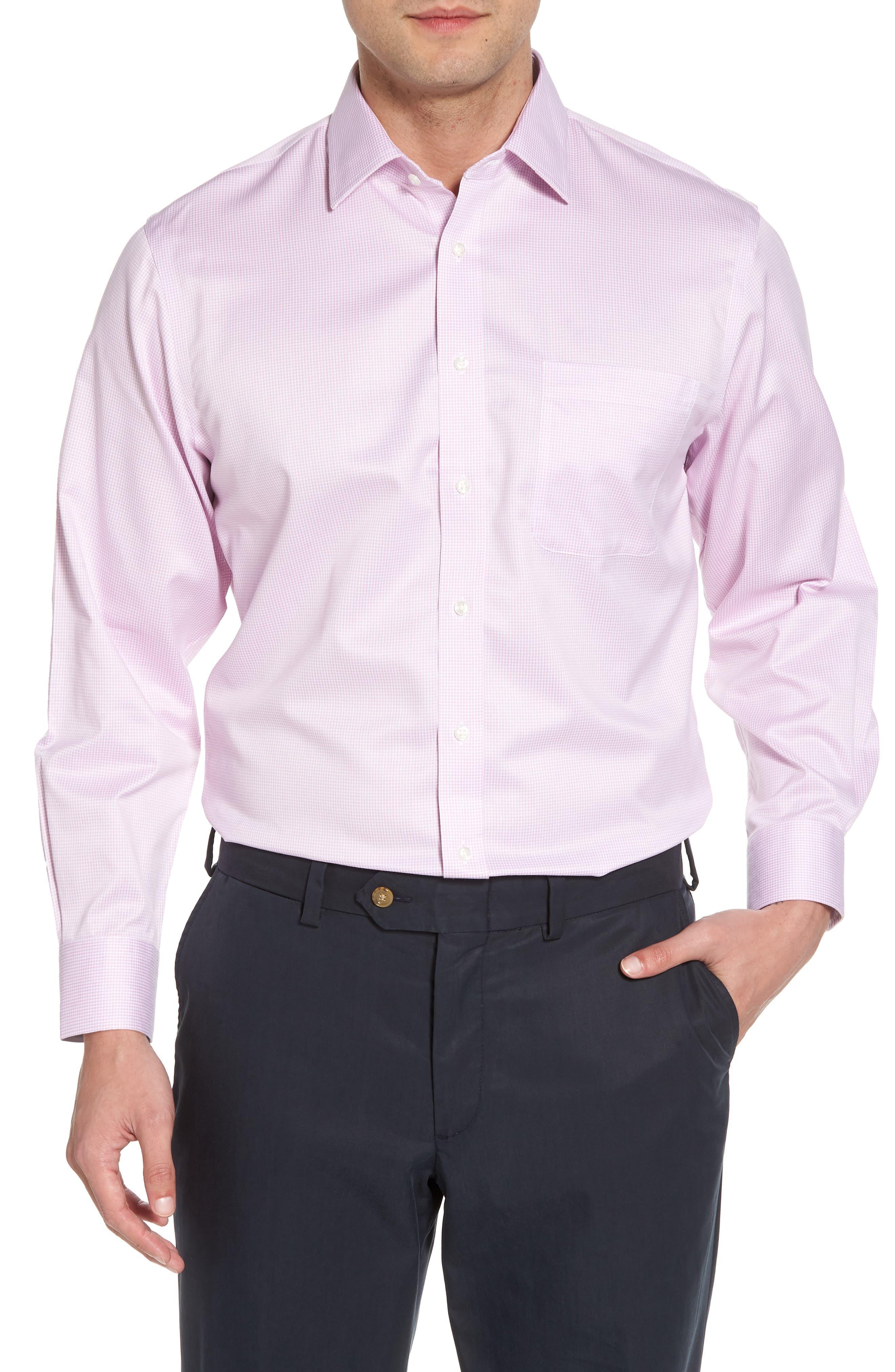 Smartcare<sup>™</sup> Traditional Fit Stripe Dress Shirt,                             Main thumbnail 3, color,