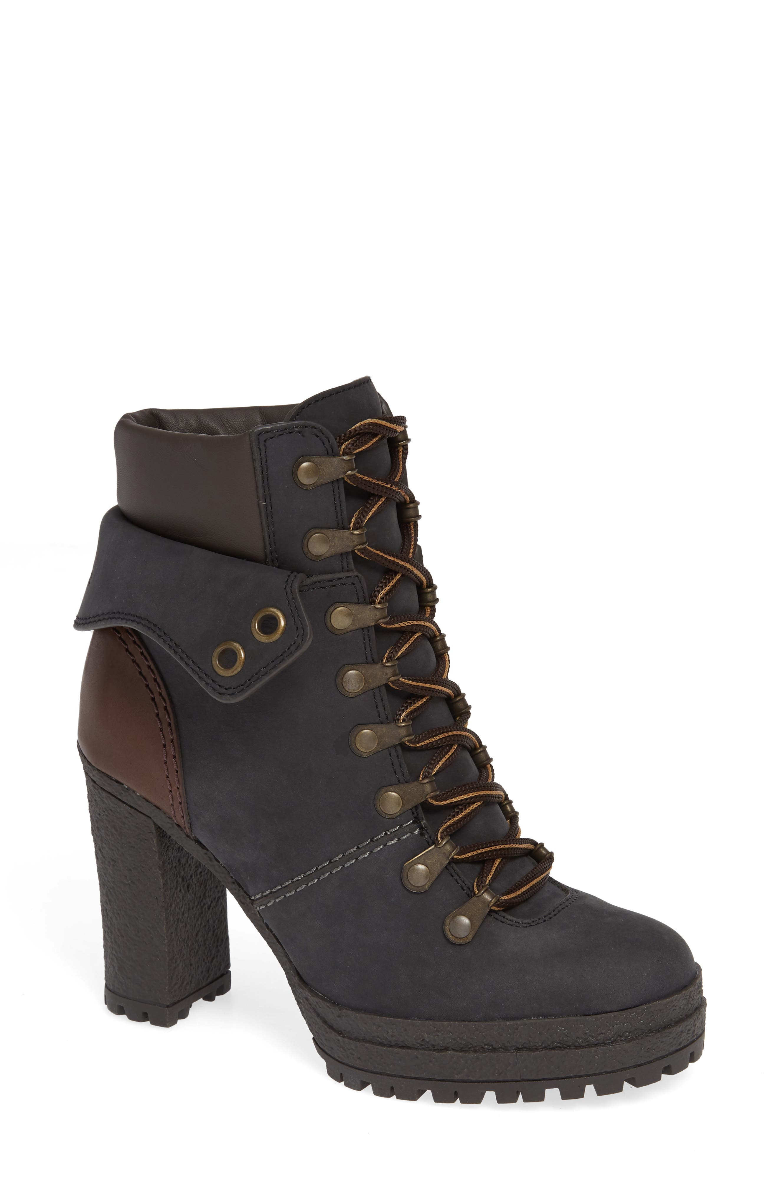 Eileen Platform Boot,                         Main,                         color, BLACK