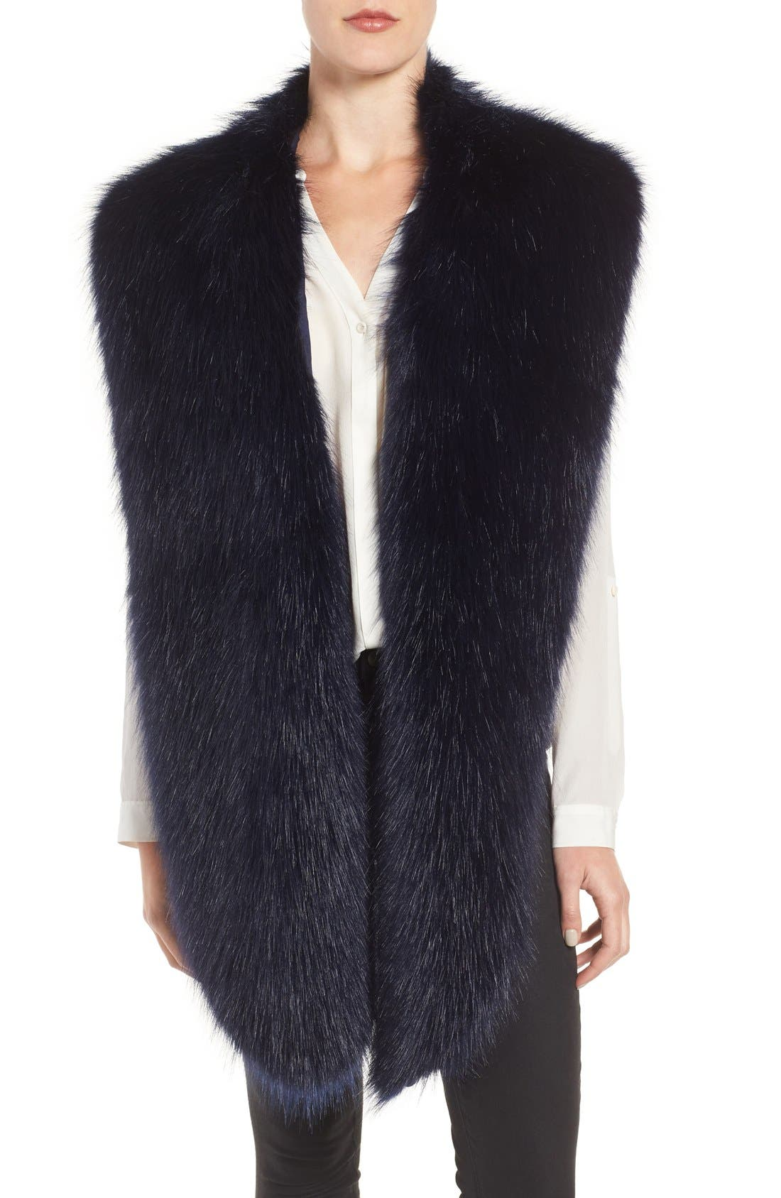 Faux Mink Stole,                             Main thumbnail 4, color,