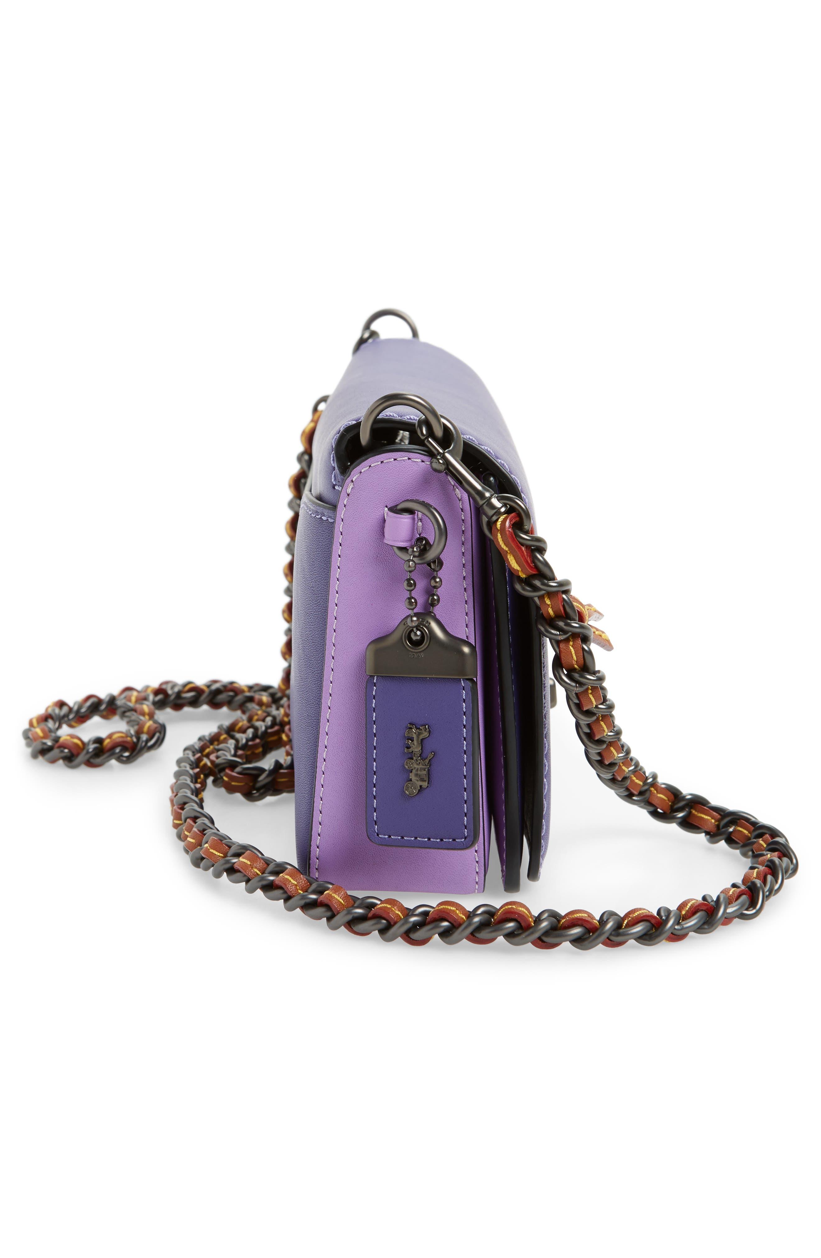 Dinky Leather Crossbody Bag,                             Alternate thumbnail 7, color,