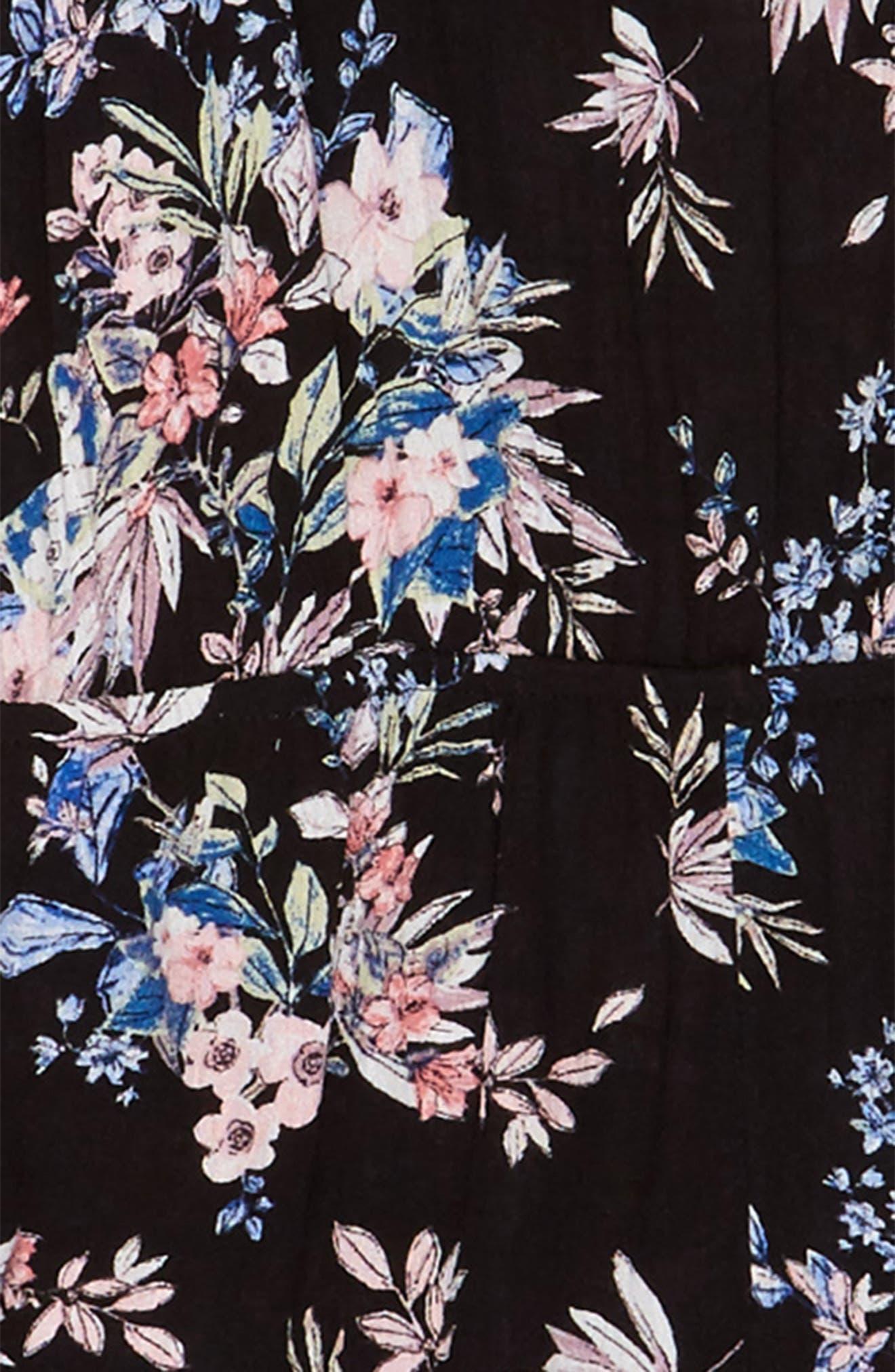 Floral Print Jumpsuit,                             Alternate thumbnail 2, color,                             016
