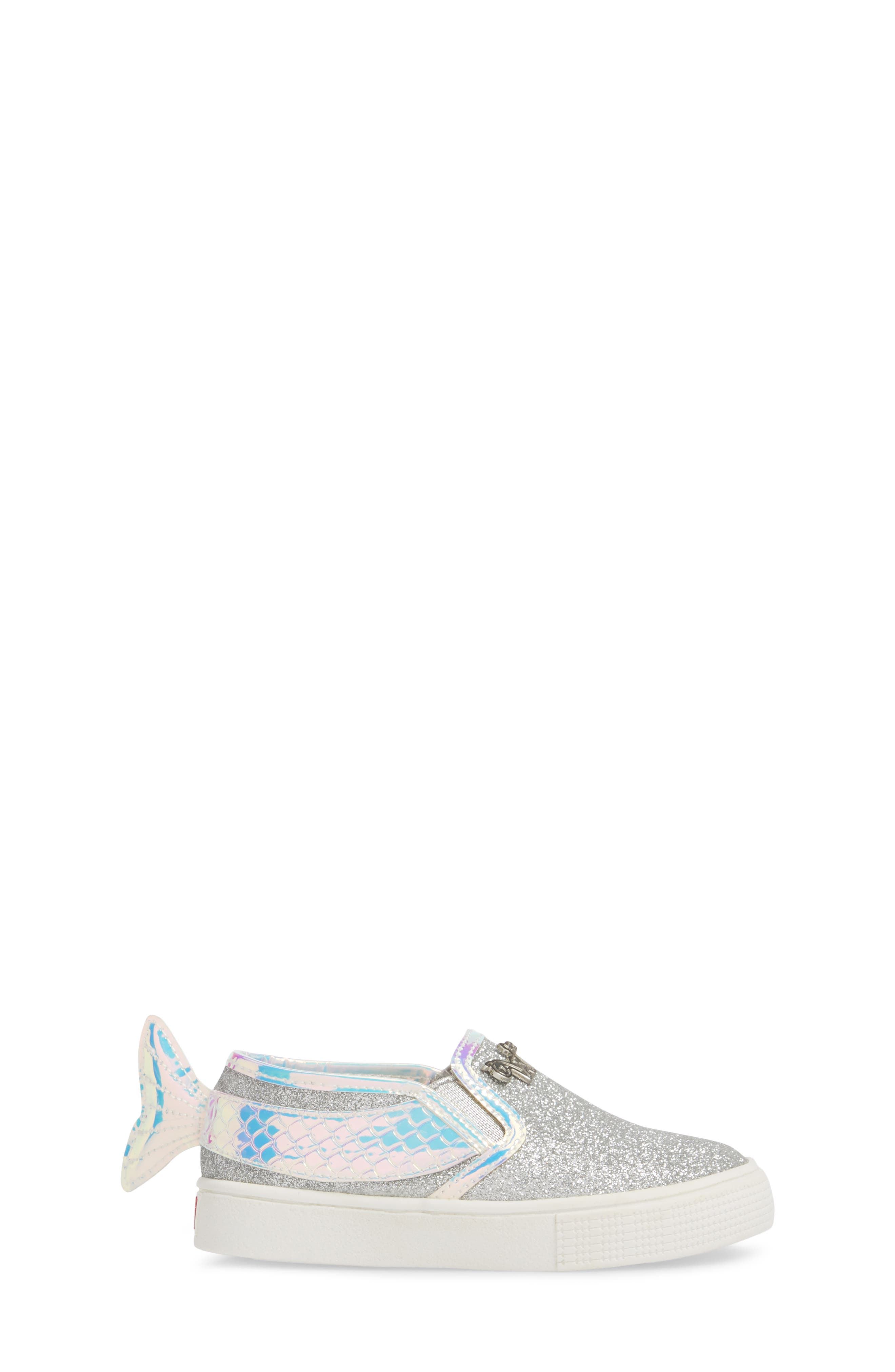 Camille Mermaid Glitter Sneaker,                             Alternate thumbnail 3, color,                             040