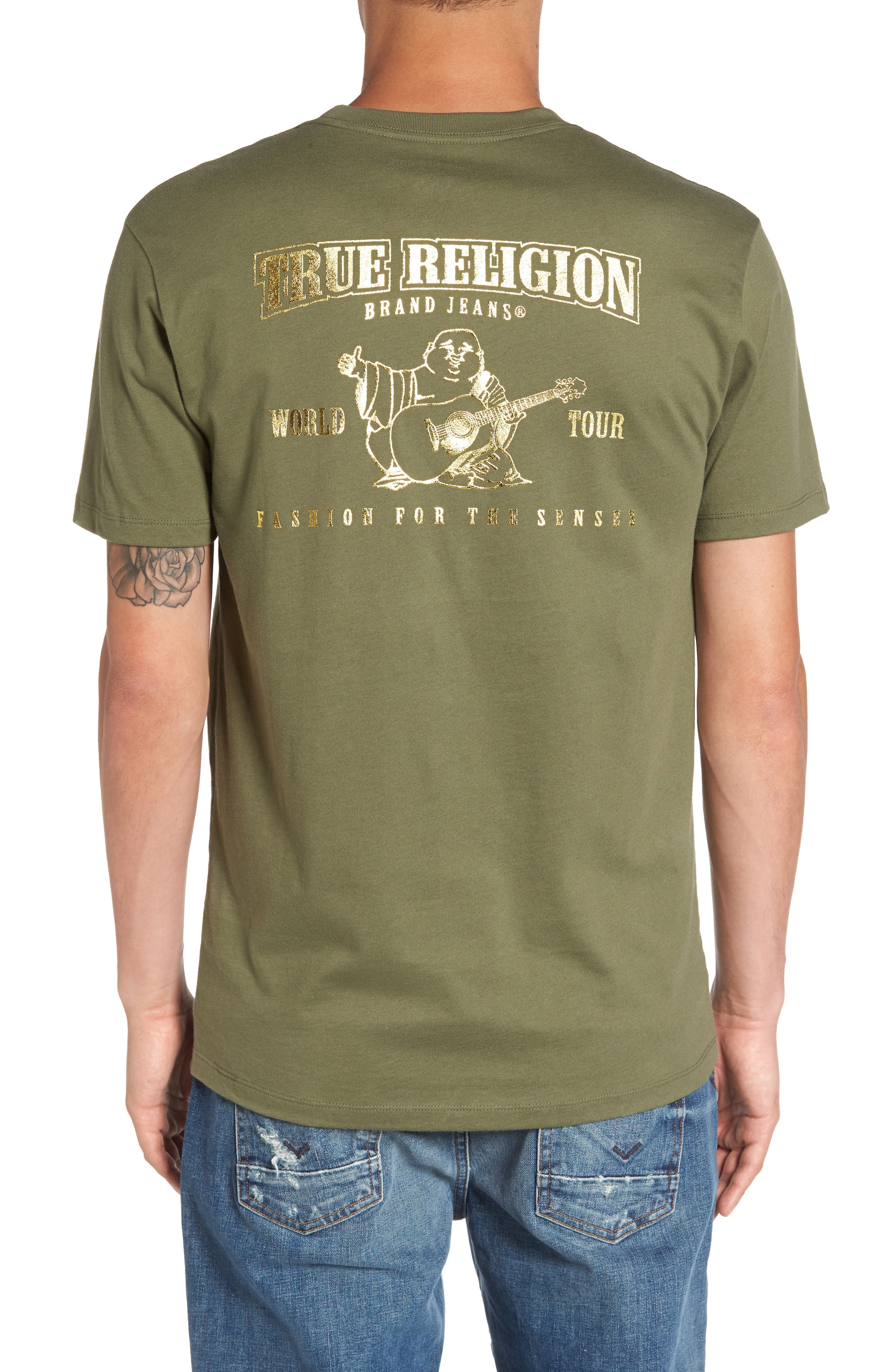 Gold Buddha Graphic T-Shirt,                             Alternate thumbnail 2, color,                             300