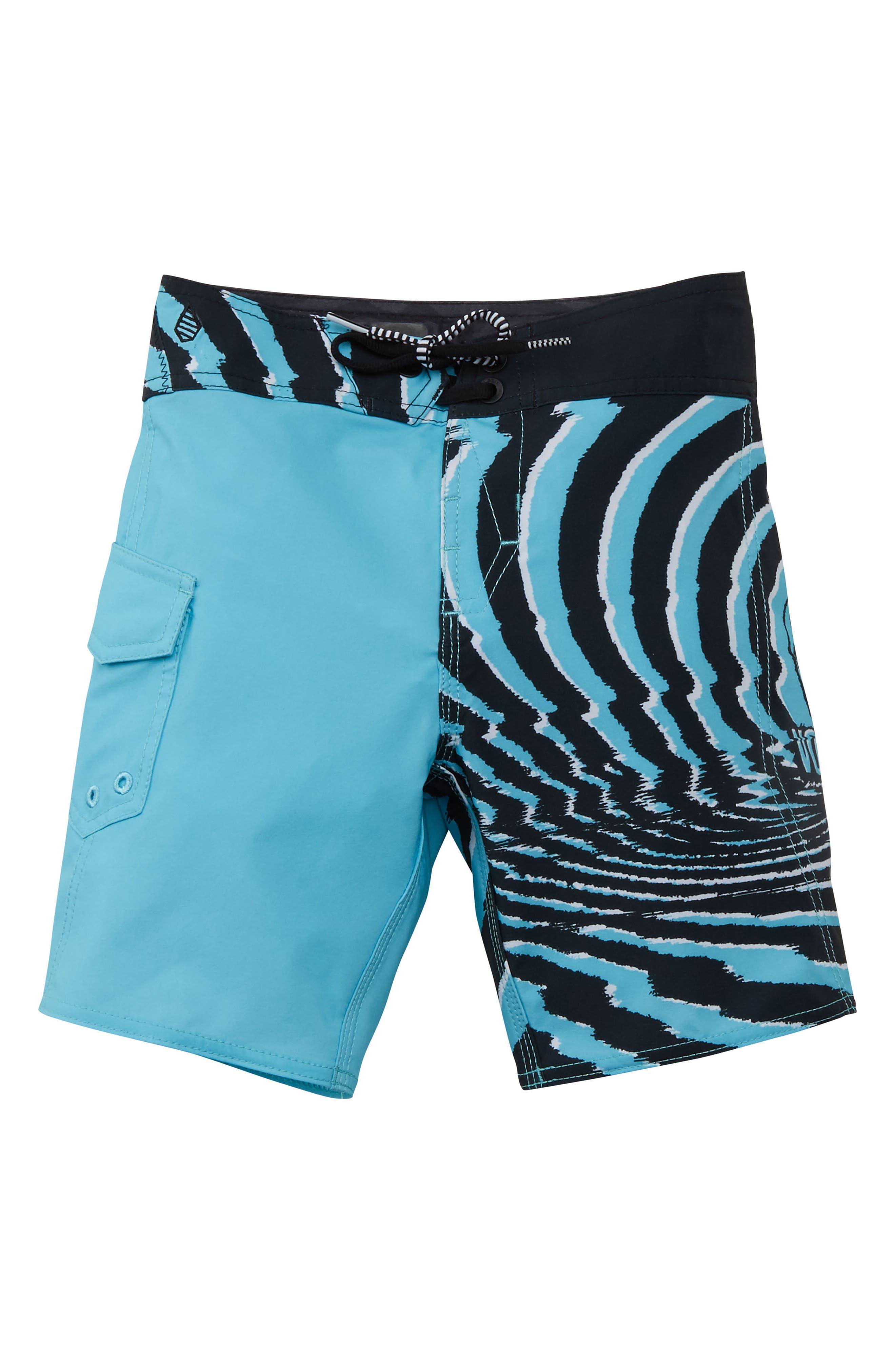 Lido Block Mod Board Shorts,                             Main thumbnail 1, color,                             470