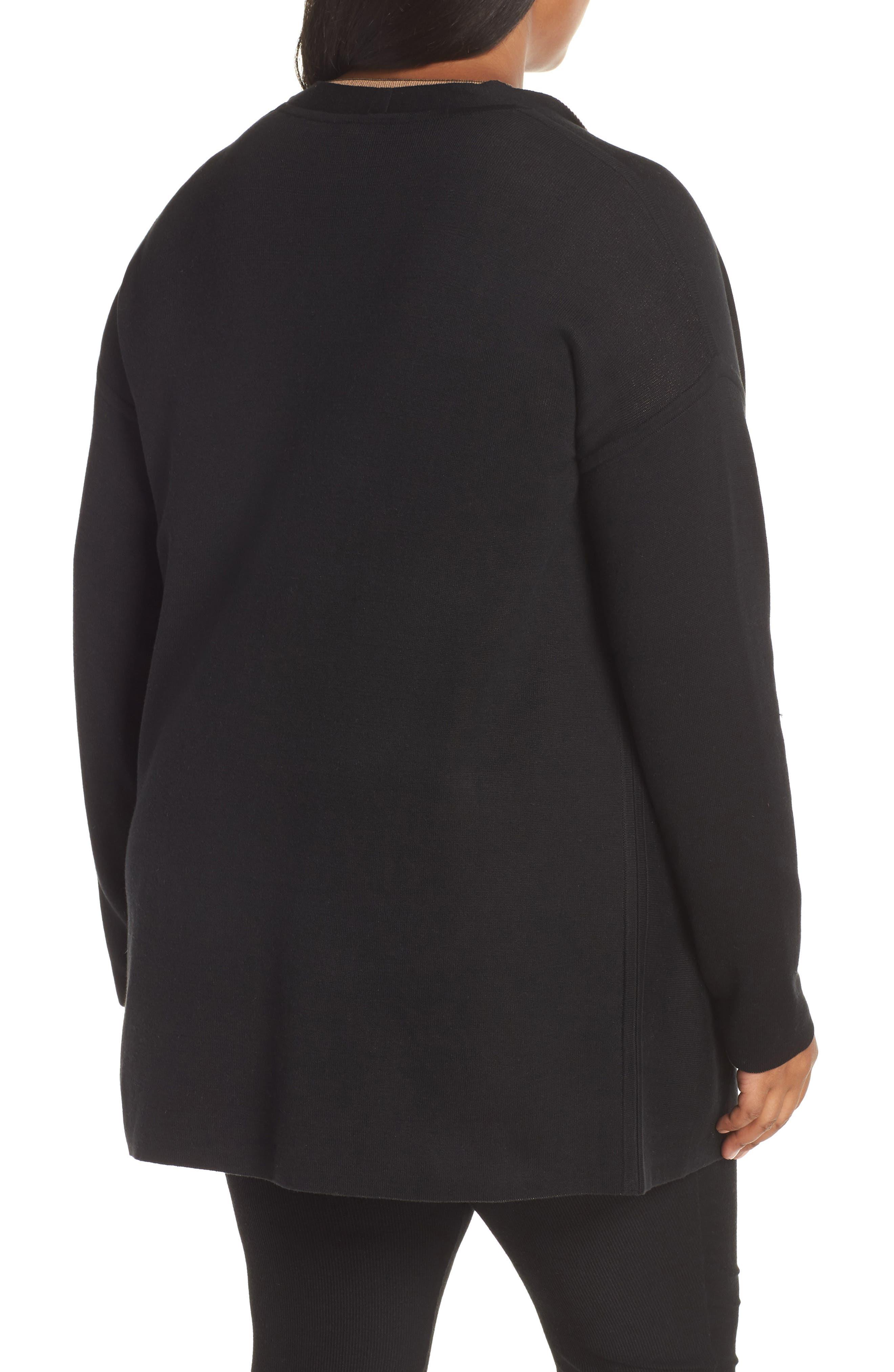 Reversible Silk Blend Cardigan,                             Alternate thumbnail 9, color,                             BLACK/ CLAY