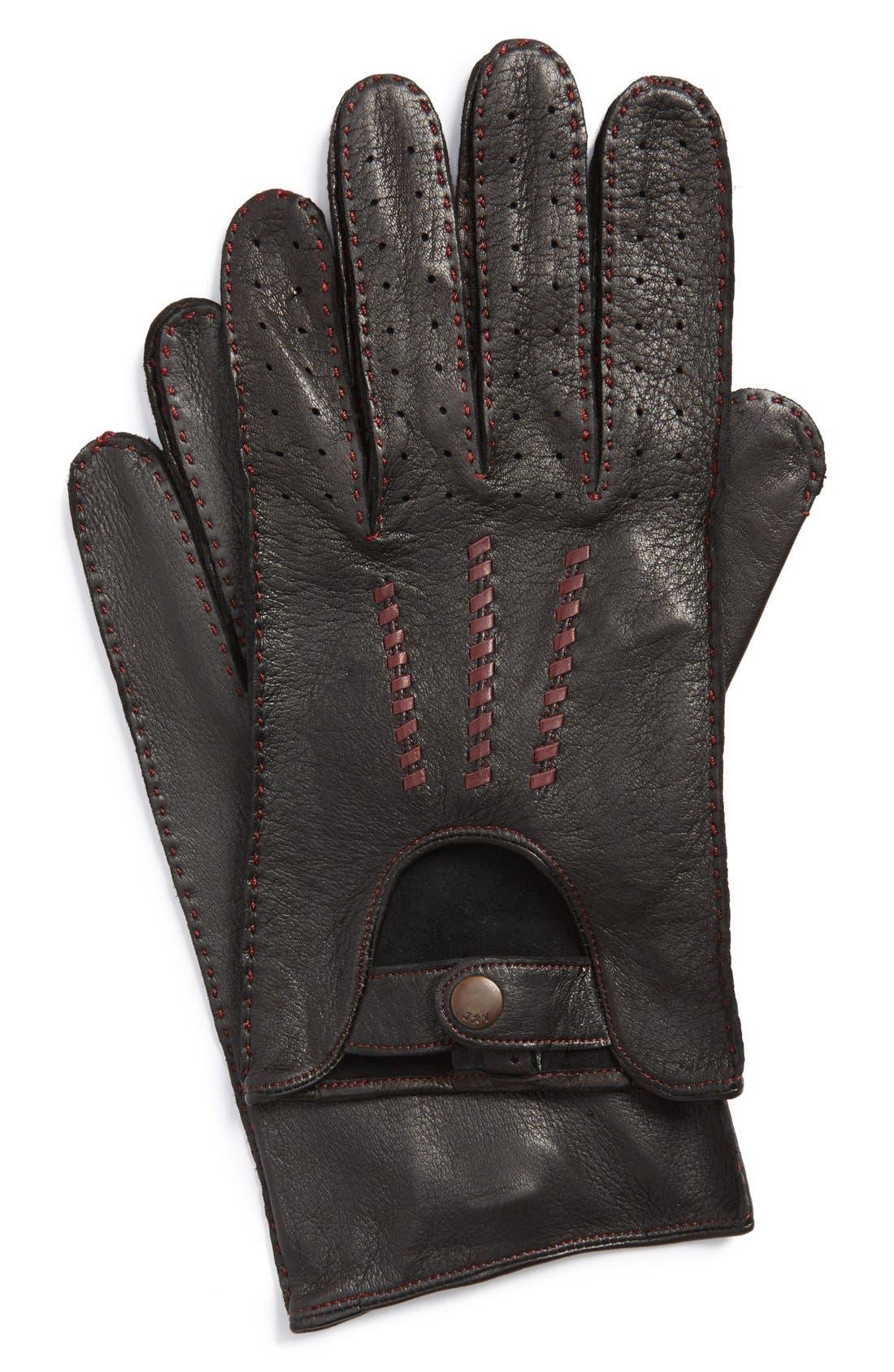 Deerskin Driving Gloves,                             Main thumbnail 2, color,