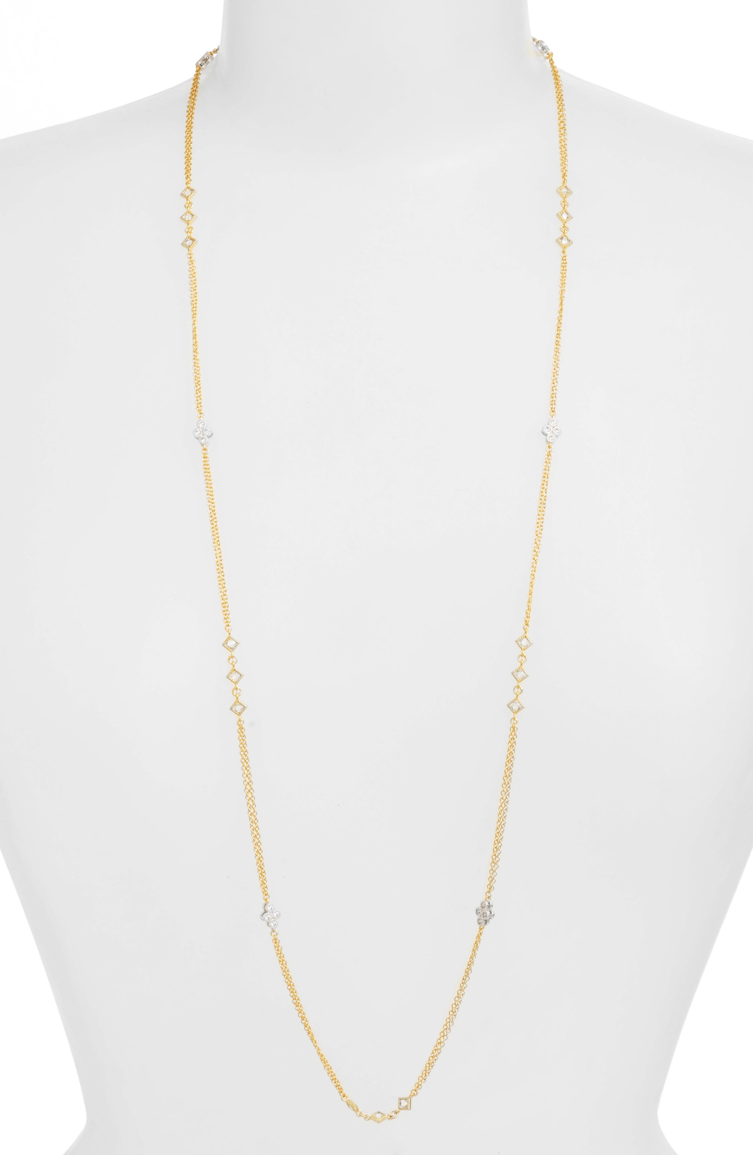 Visionary Vermeil Station Necklace,                         Main,                         color, GOLD
