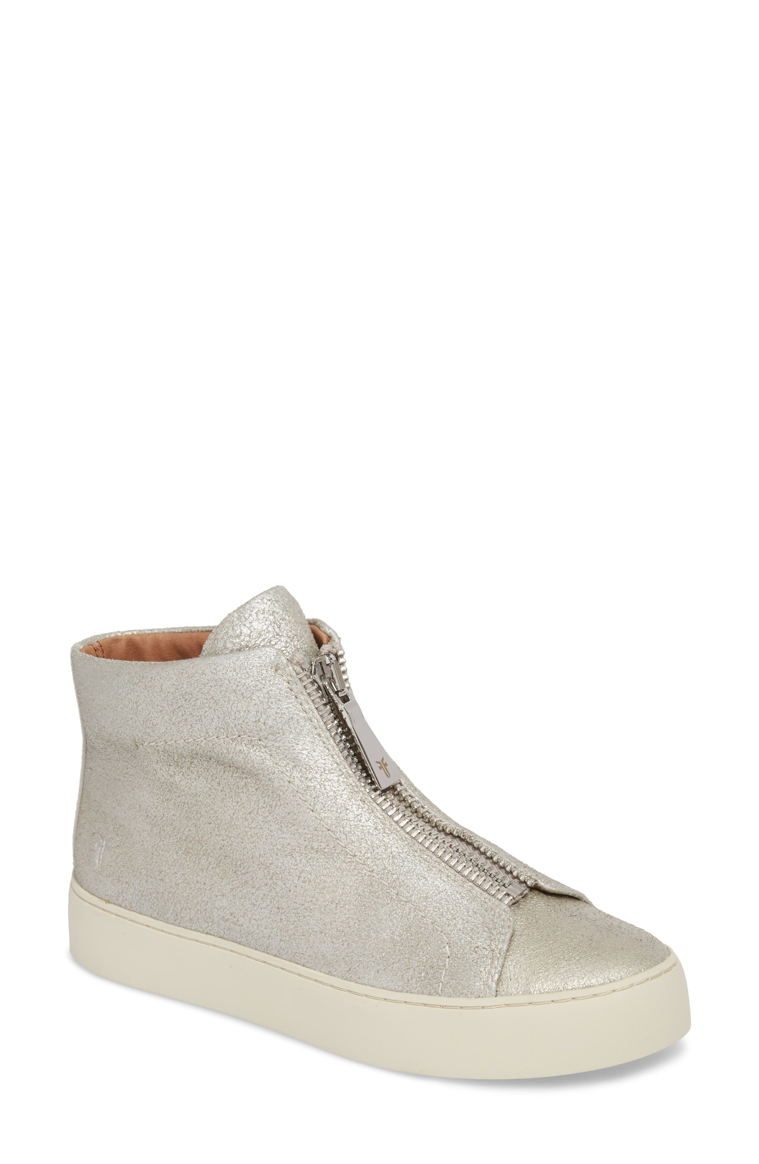 Lena Zip High Top Sneaker,                             Main thumbnail 1, color,
