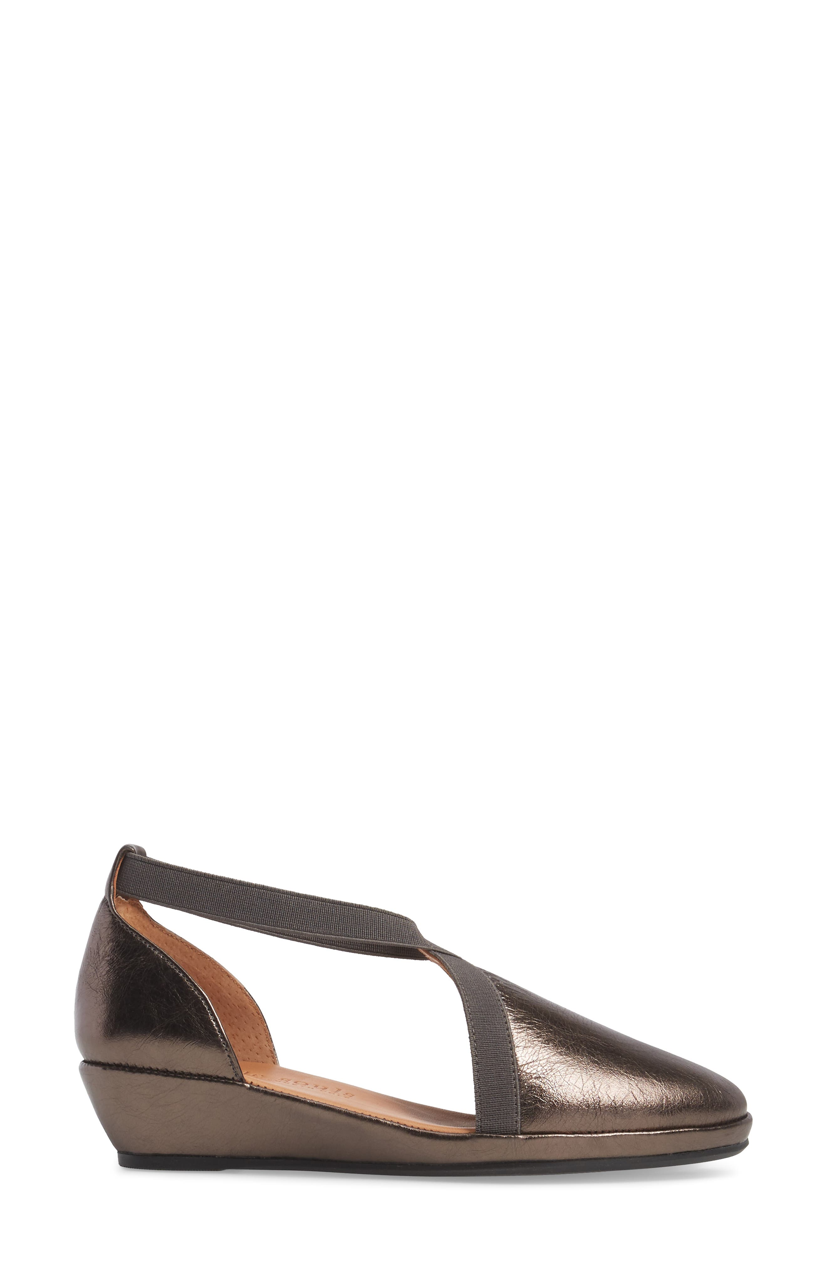 by Kenneth Cole Natalia Wedge,                             Alternate thumbnail 3, color,                             PEWTER LEATHER