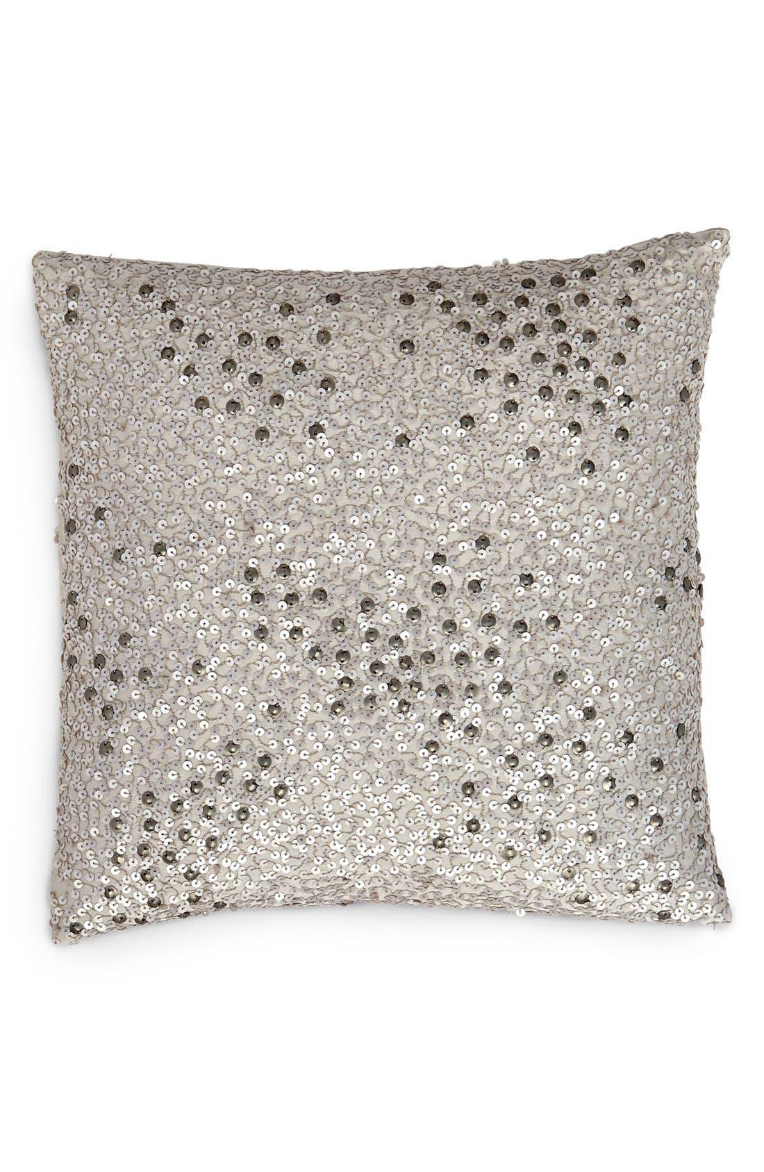 Donna Karan Collection 'Reflection' Sequin Pillow,                             Main thumbnail 1, color,                             SILVER
