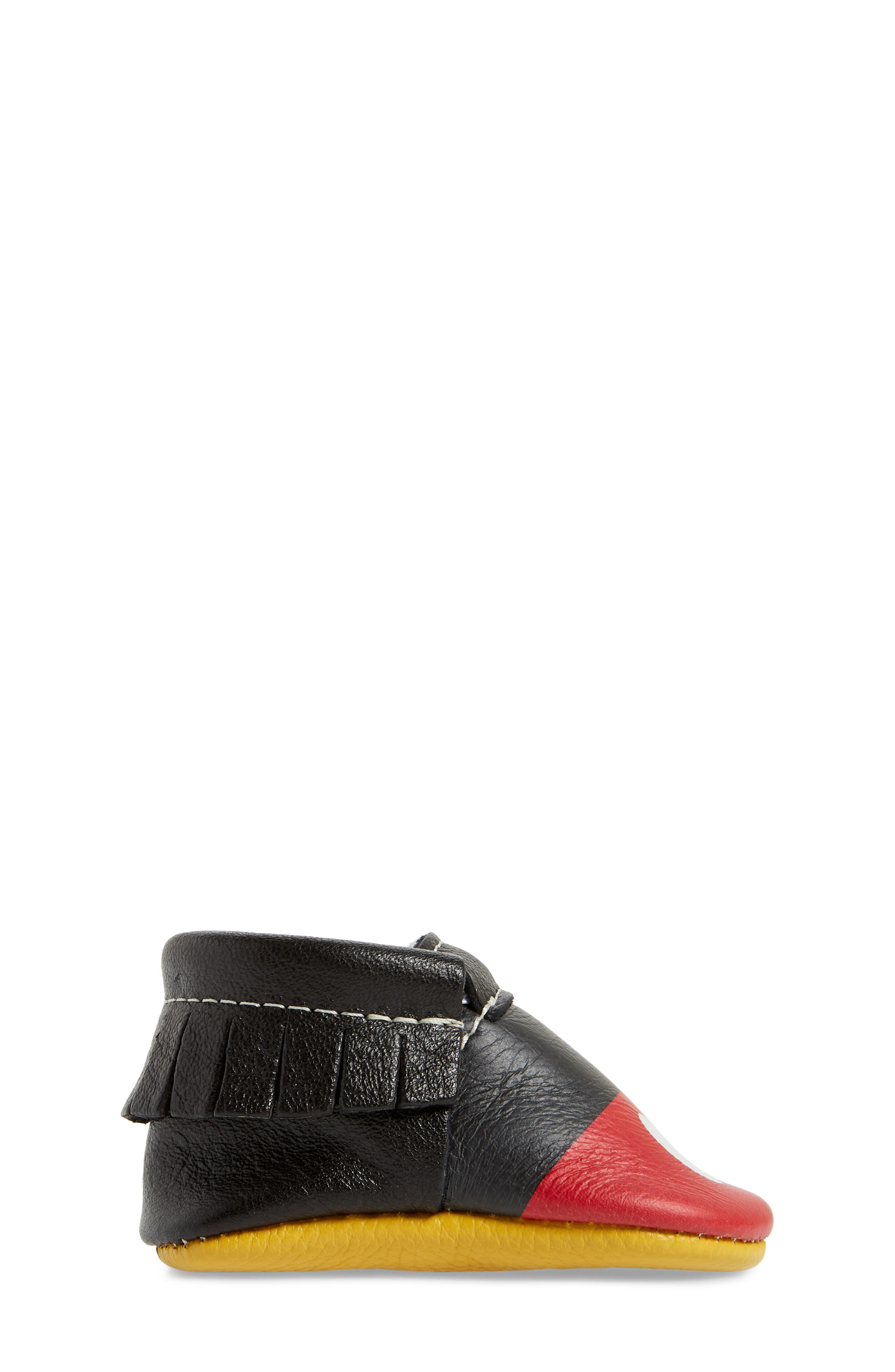 x Disney<sup>®</sup> Baby Mickey Mousee Crib Moccasin,                             Alternate thumbnail 3, color,                             001