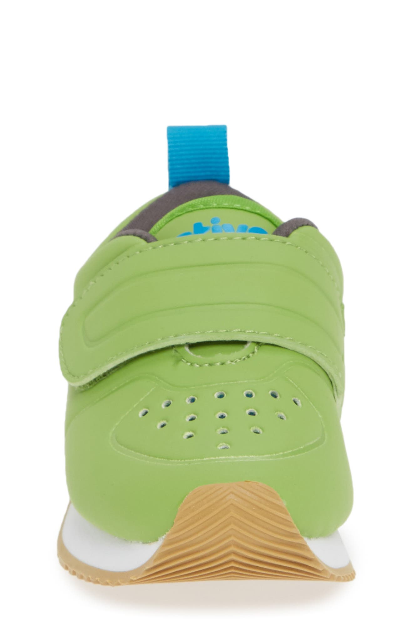 Cornell Perforated Colorblock Sneaker,                             Alternate thumbnail 4, color,                             SPRING GREEN/ WHITE/ GREY