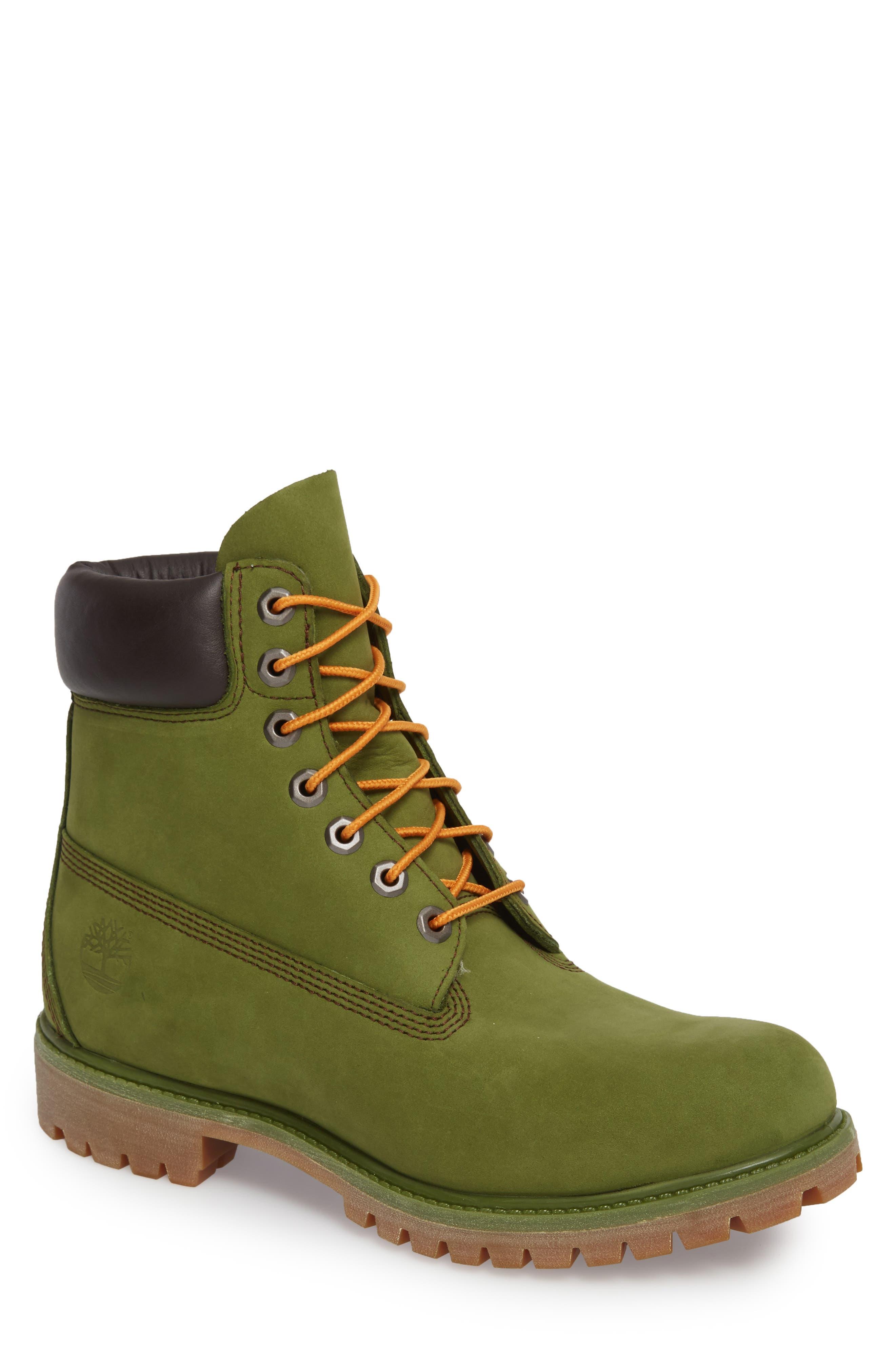 'Six Inch Classic Boots Series - Premium' Boot,                             Main thumbnail 1, color,                             PESTO WATERBUCK