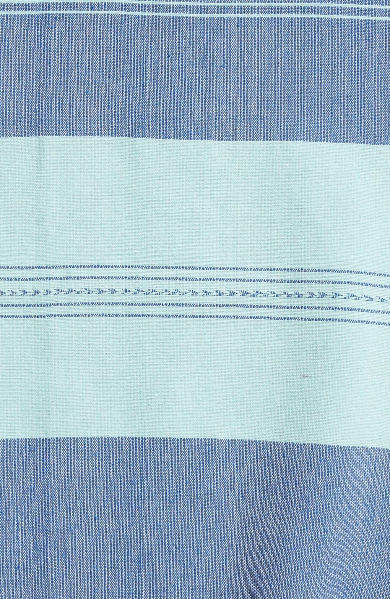 Aegean Sea Woven Cotton Blanket,                             Alternate thumbnail 2, color,                             GREEN/BLUE