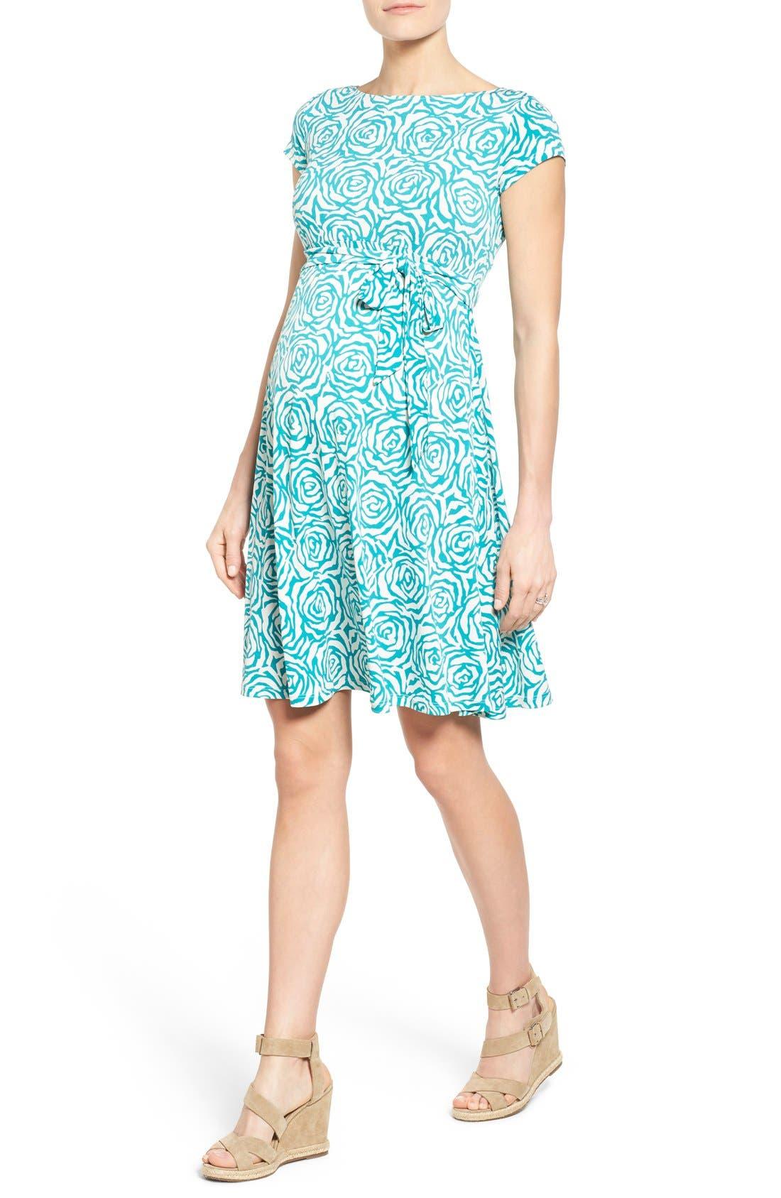'Ilana' A-Line Maternity Dress,                             Alternate thumbnail 16, color,