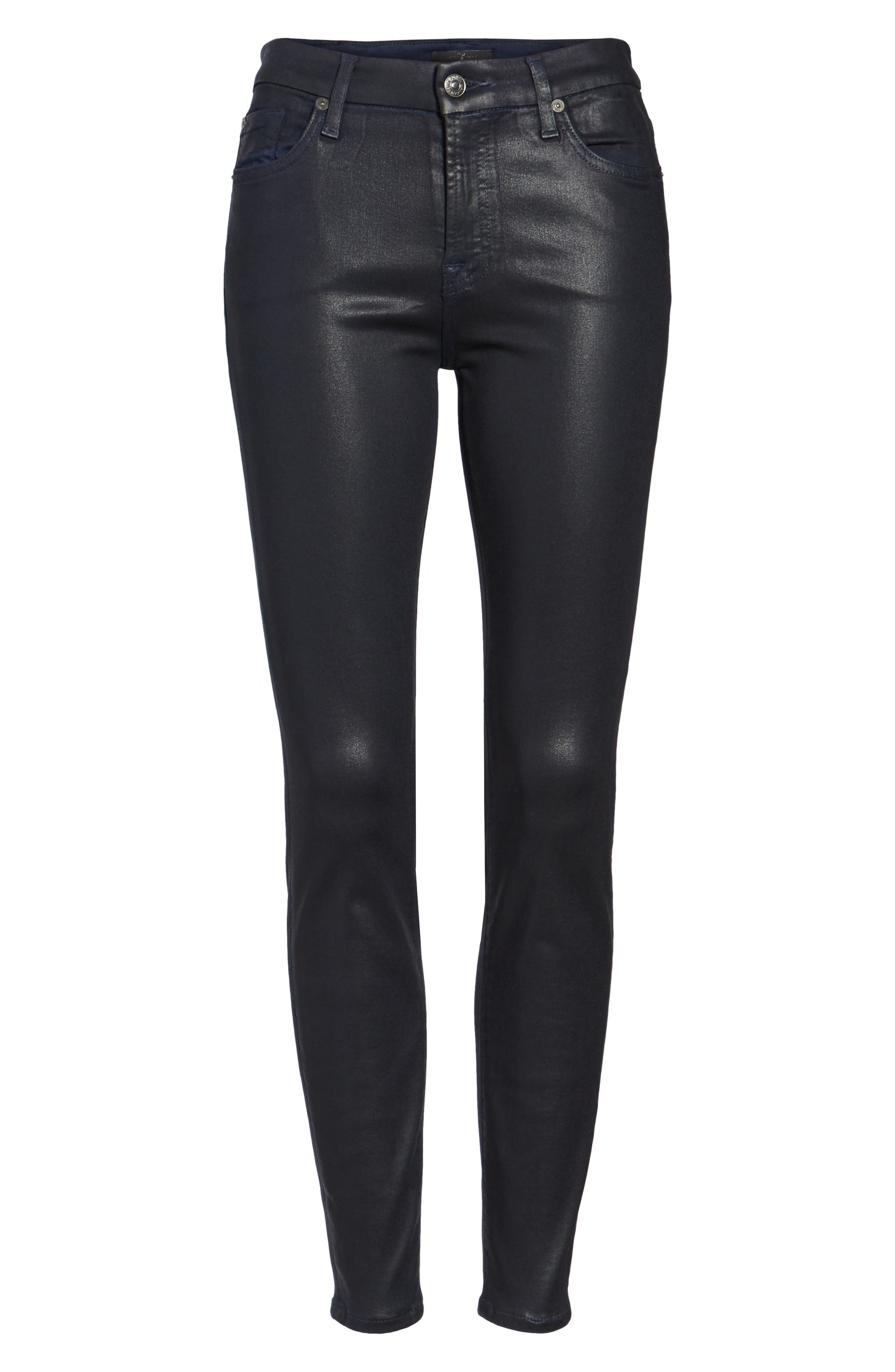 Coated Ankle Skinny Jeans,                             Alternate thumbnail 23, color,