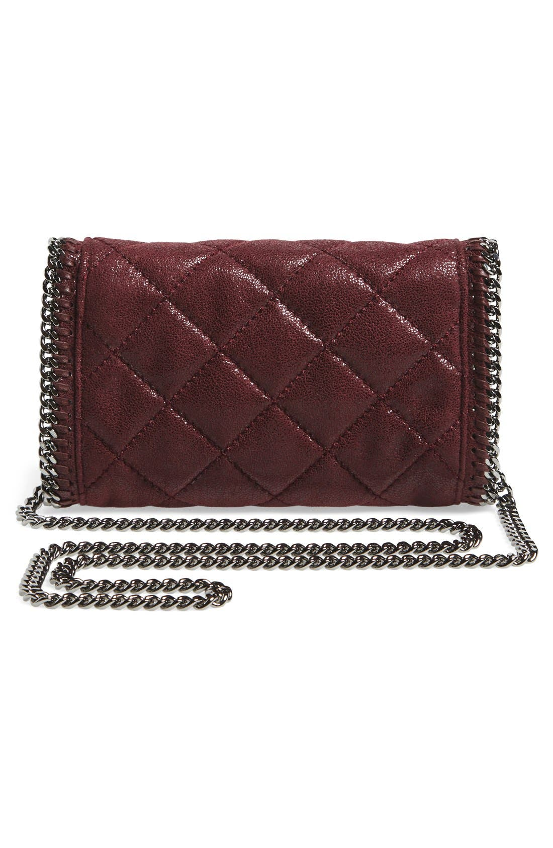 'Falabella' Quilted Faux Leather Crossbody Bag,                             Alternate thumbnail 12, color,