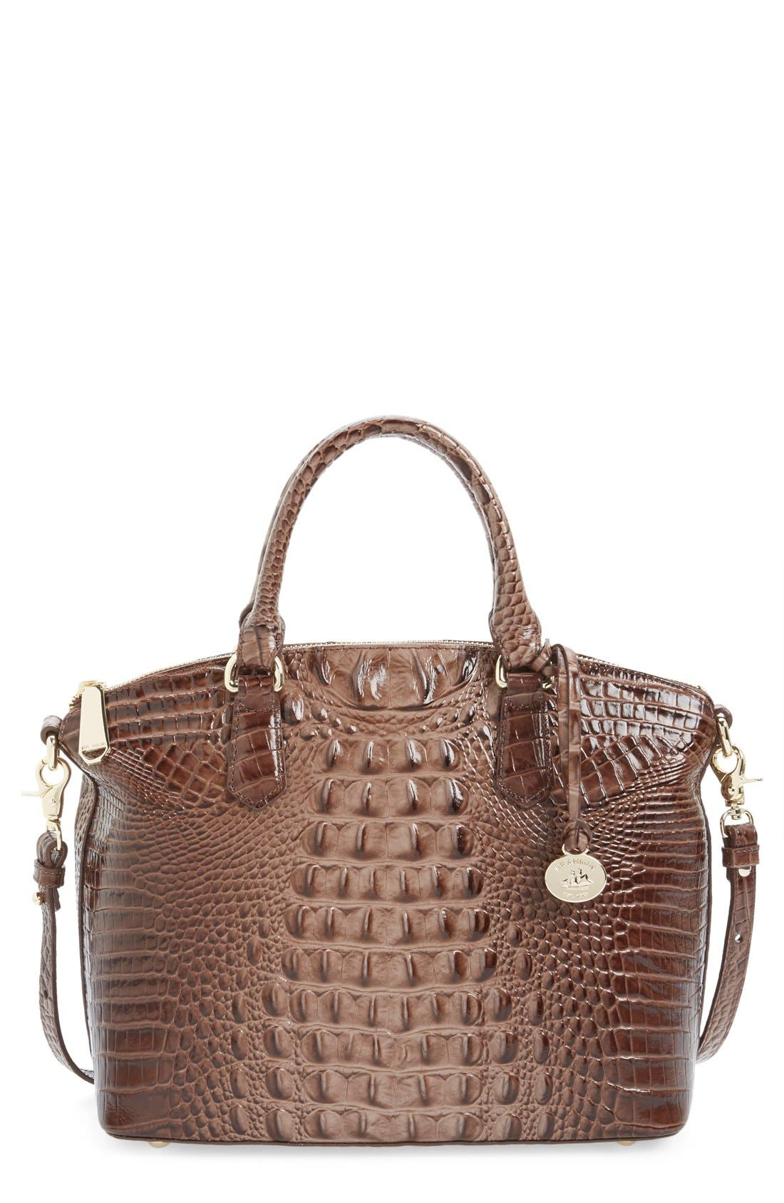 'Medium Duxbury' Croc Embossed Leather Satchel,                             Main thumbnail 11, color,
