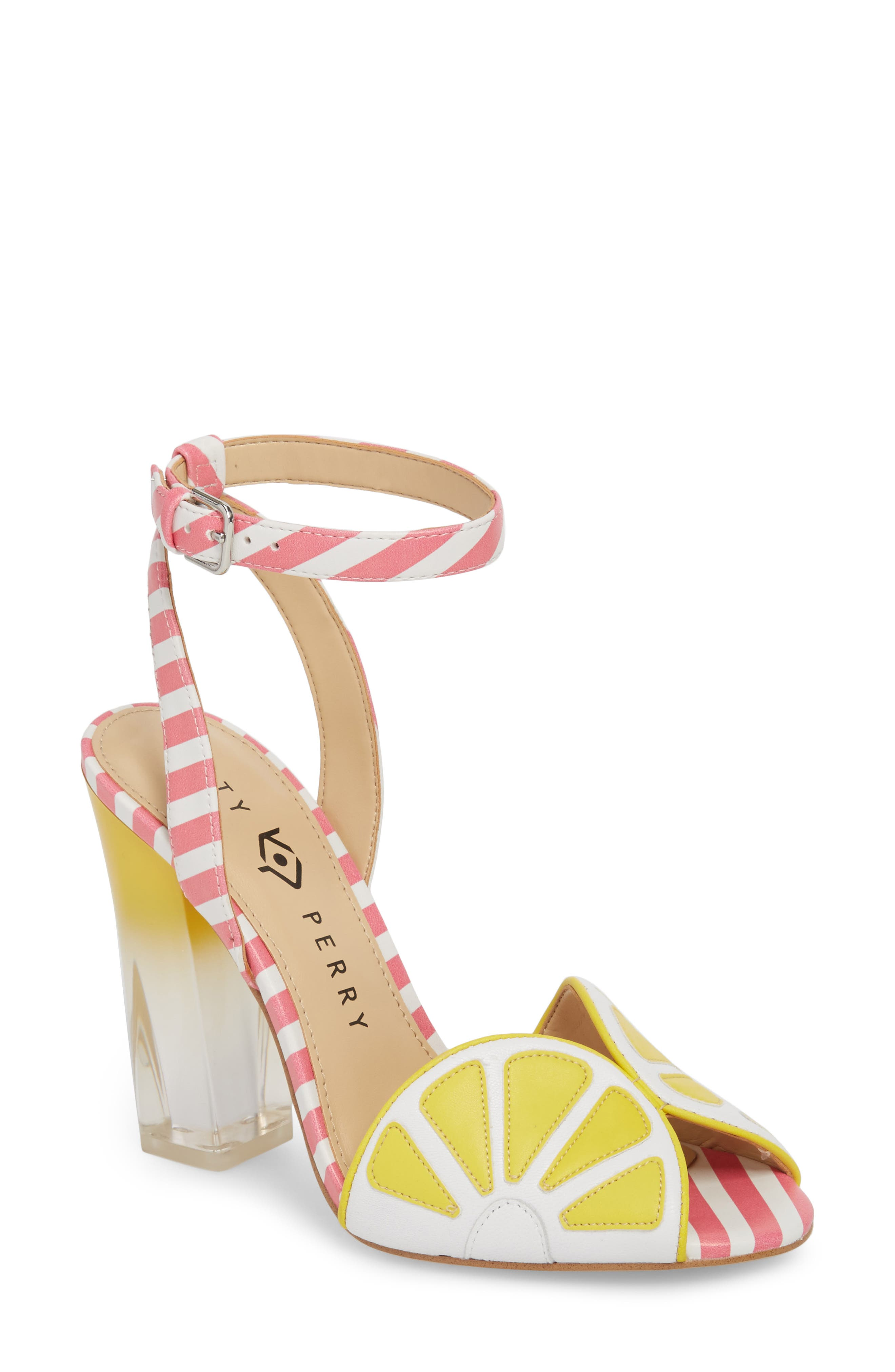 The Citron Sandal,                         Main,                         color, YELLOW/ WHITE LEATHER