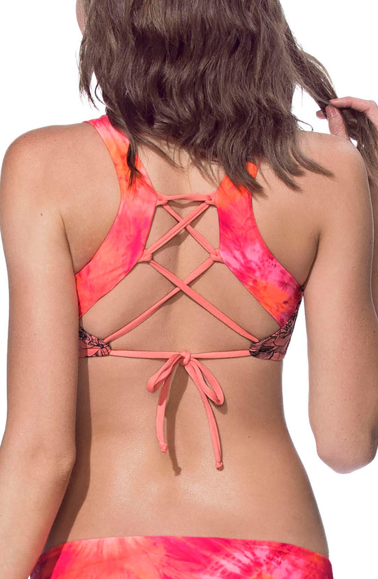 Out of Focus Reversible Bikini Top,                             Alternate thumbnail 2, color,                             950