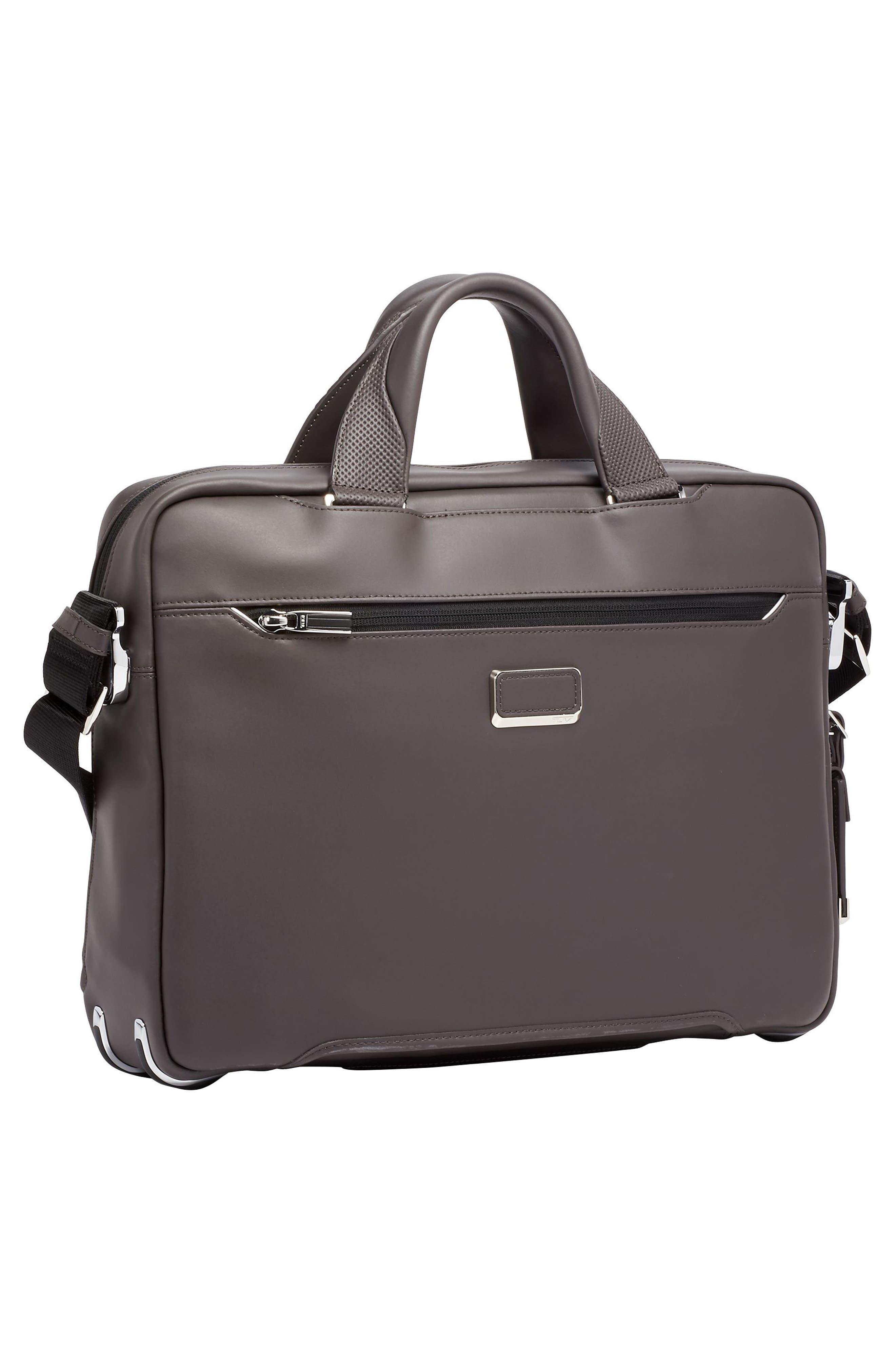 Arrivé - Sawyer Leather Briefcase,                             Alternate thumbnail 3, color,                             TAUPE