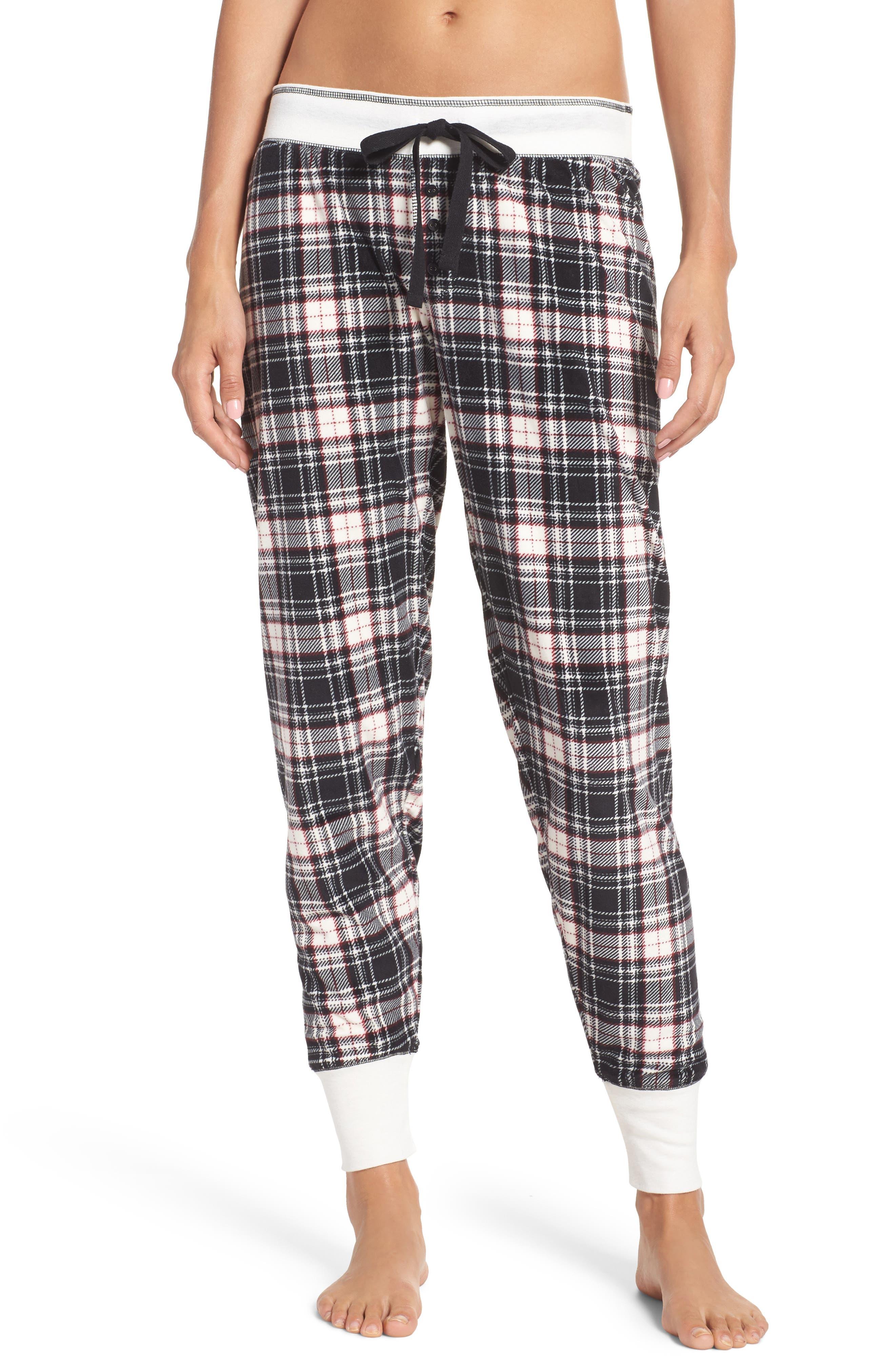 Print Velour Pants,                         Main,                         color, 001