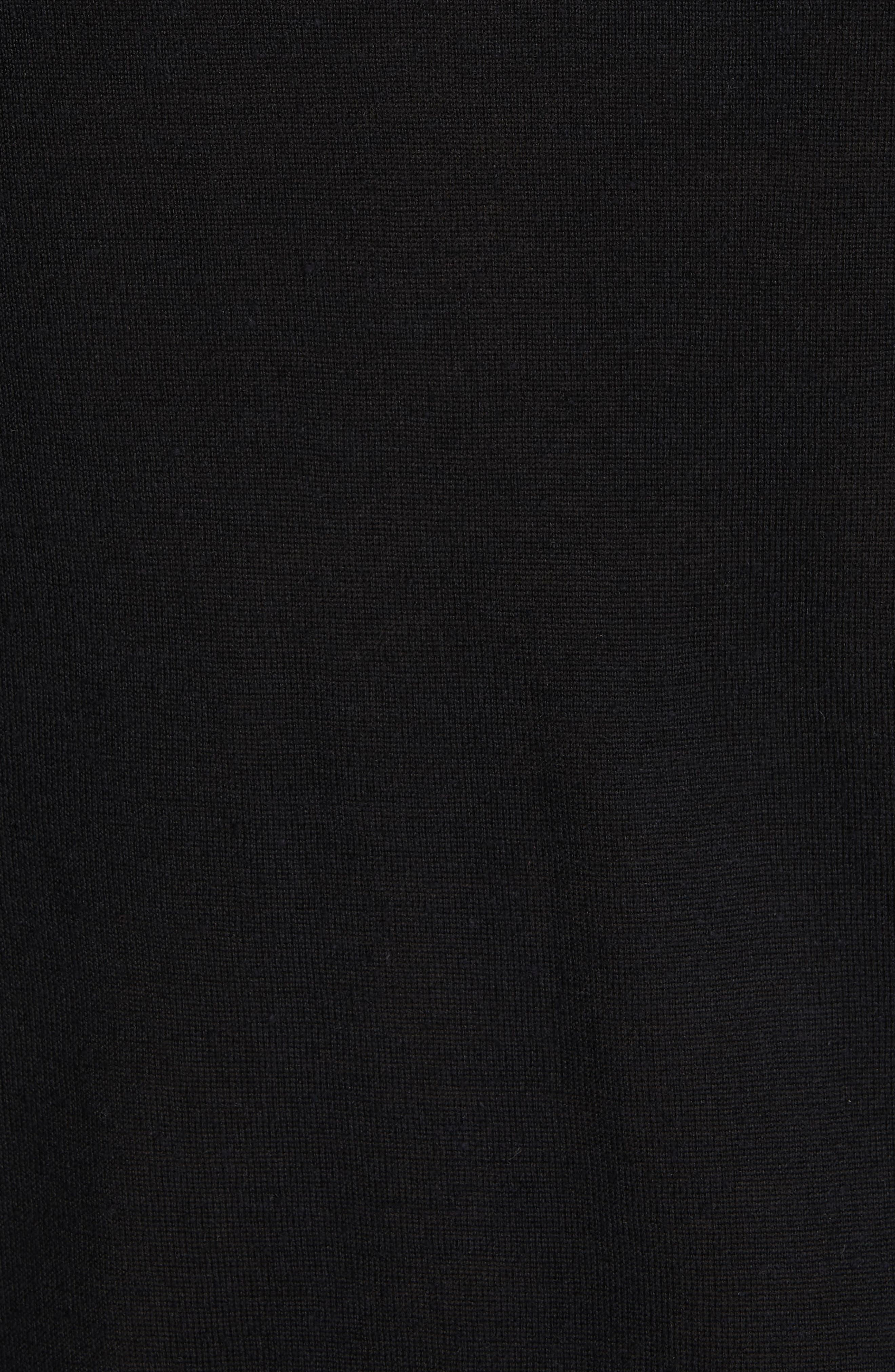 Back Logo Wool & Silk Sweatshirt,                             Alternate thumbnail 5, color,                             BLACK