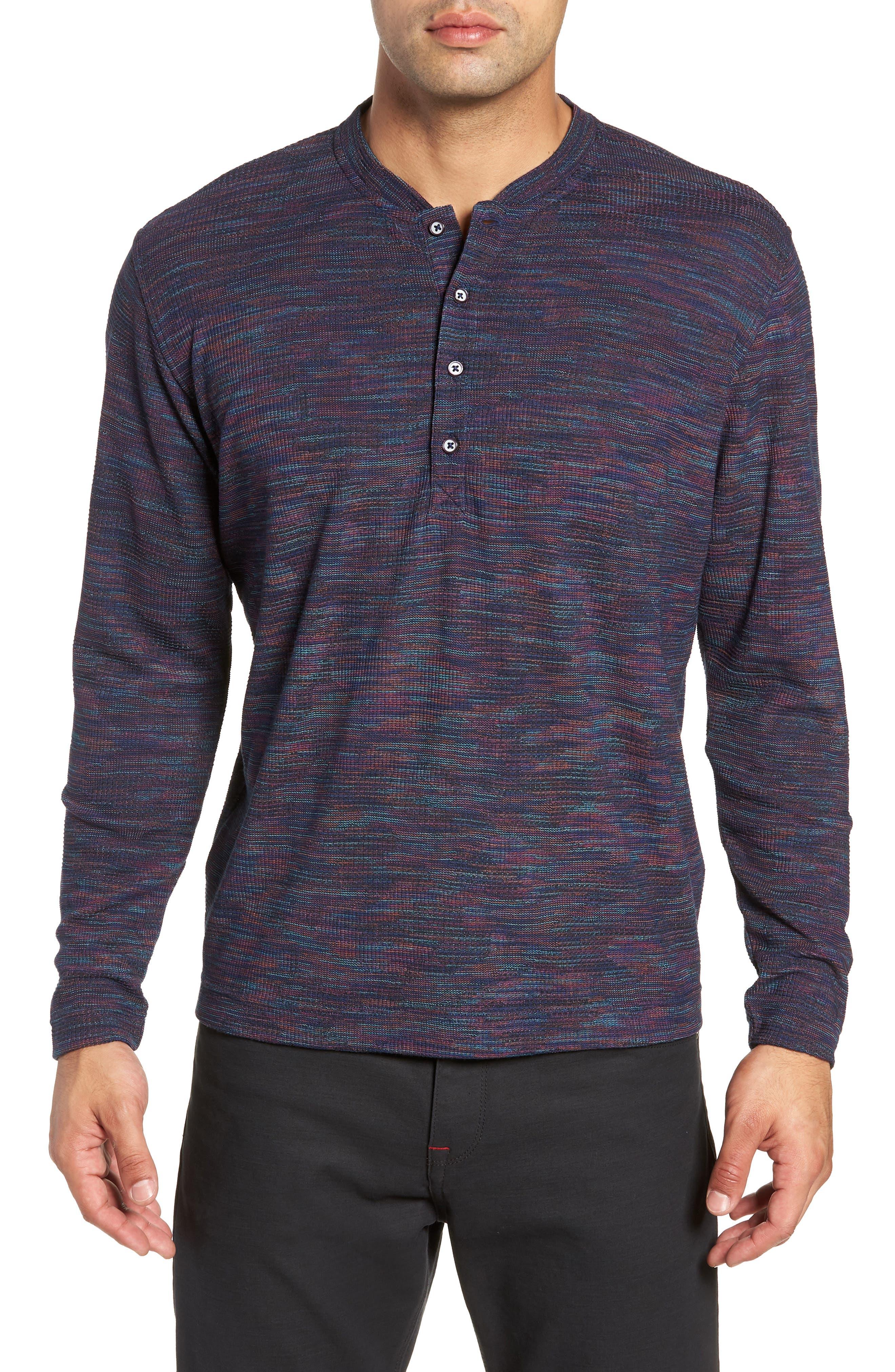 Forster Long Sleeve Henley Shirt,                             Main thumbnail 1, color,                             NAVY