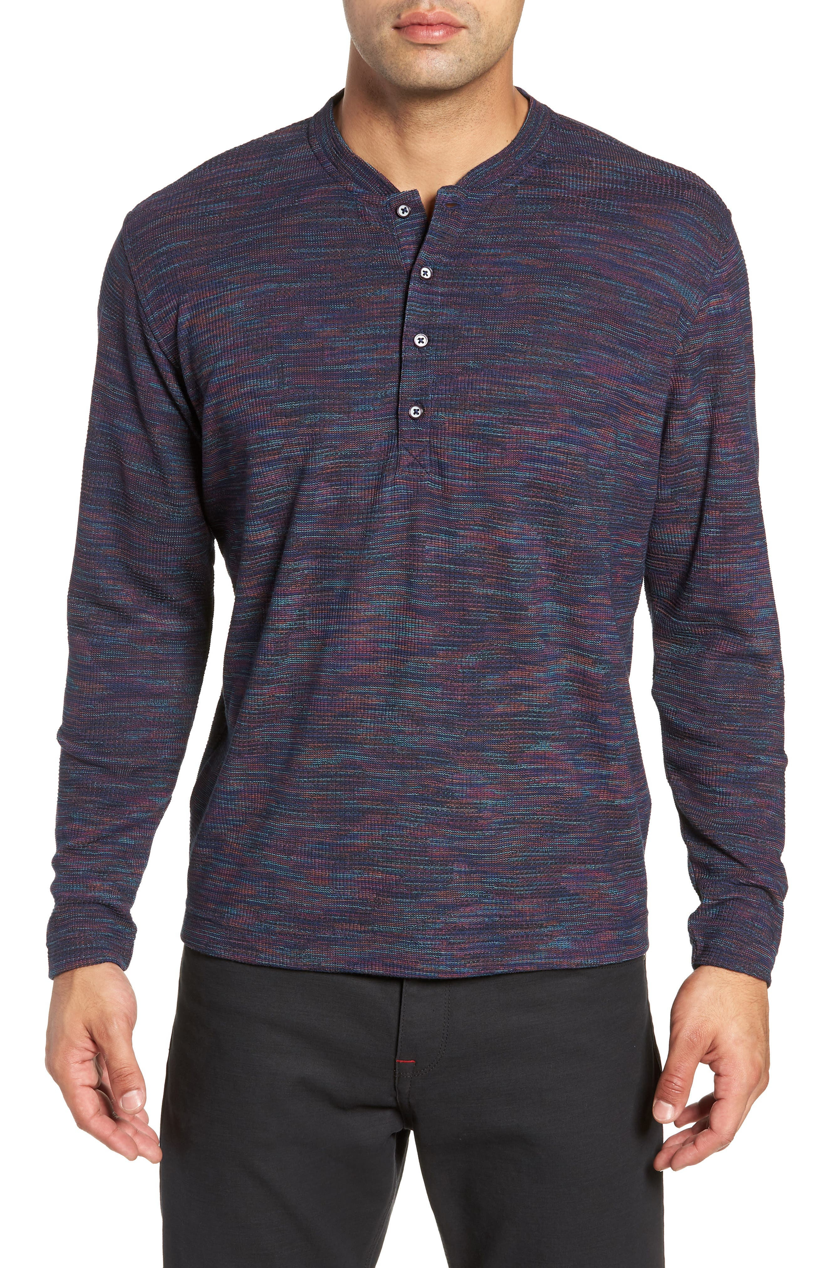 Forster Long Sleeve Henley Shirt,                         Main,                         color, NAVY