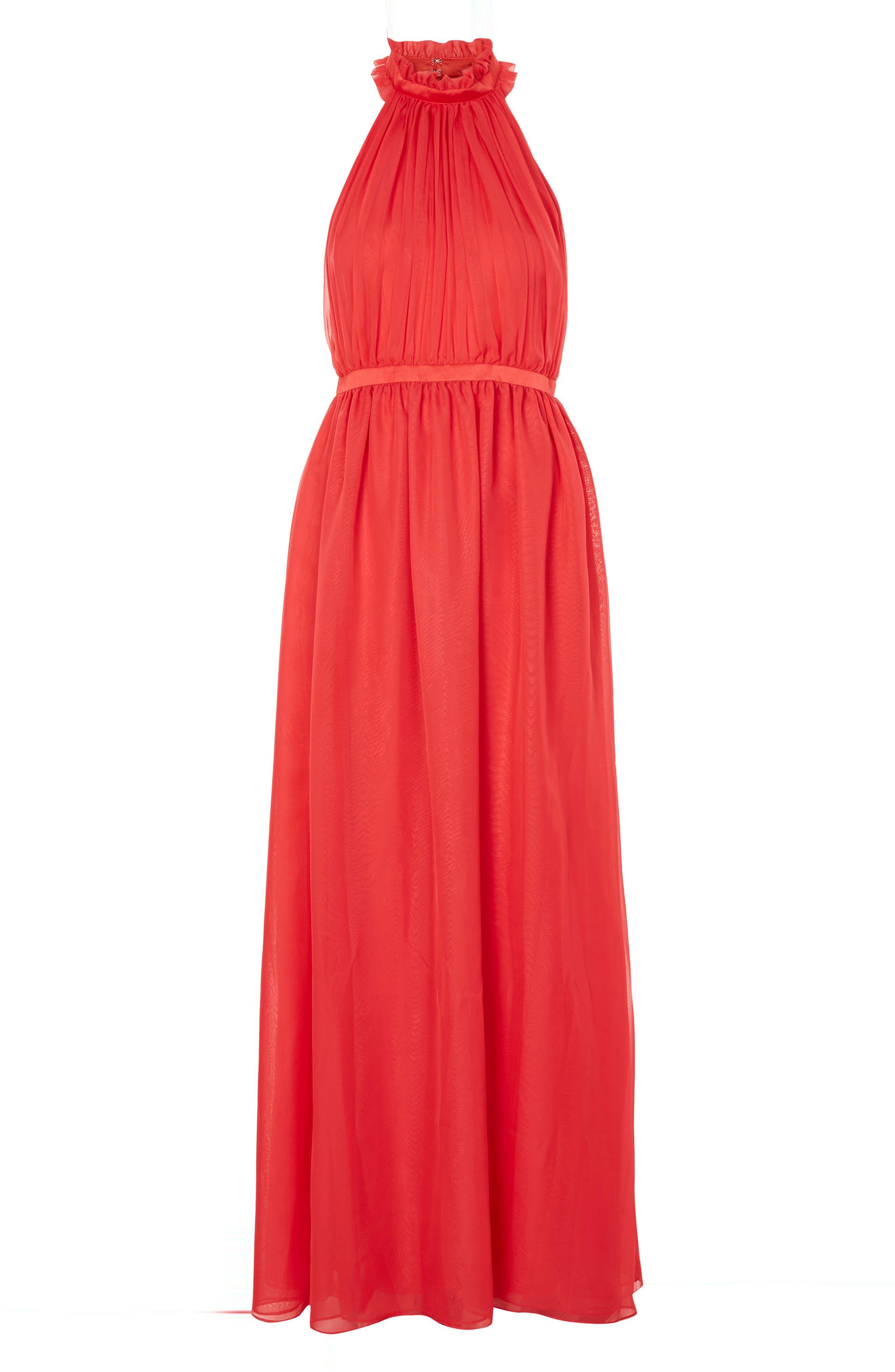 Taylor Halter Maxi Dress,                             Alternate thumbnail 8, color,