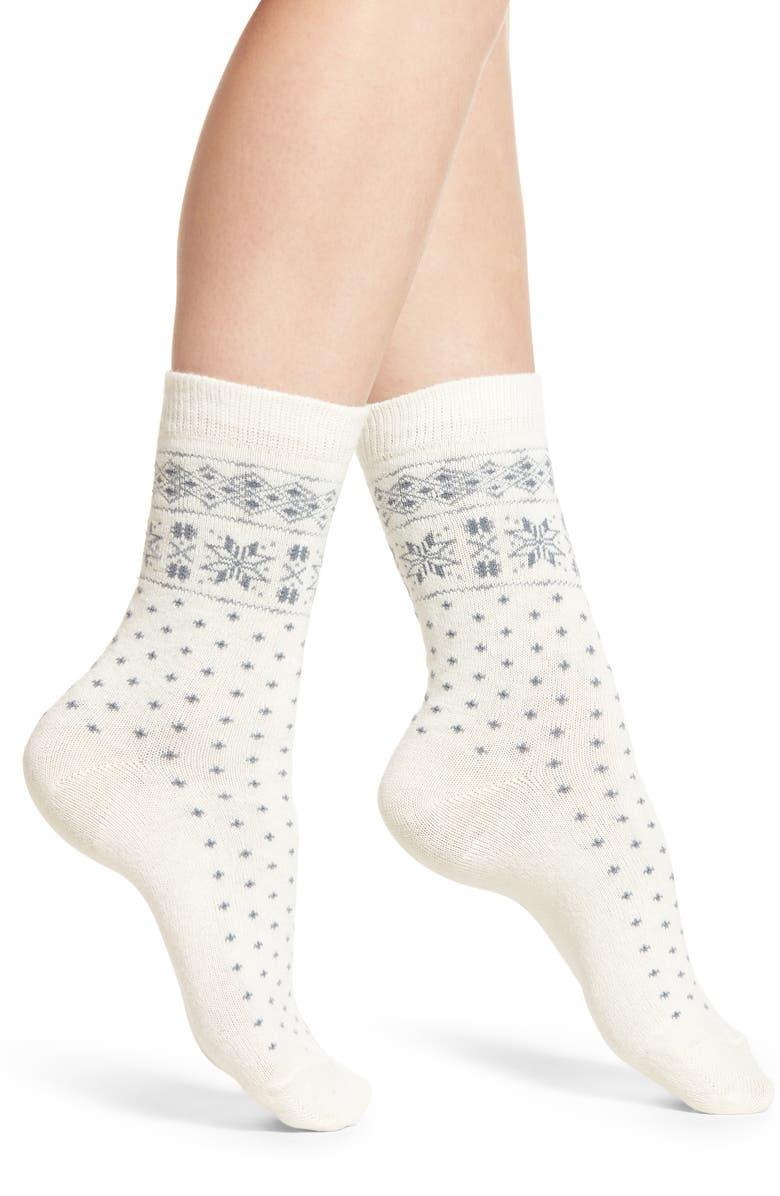 Ralph Lauren SNOWFLAKE BORDER BOOT SOCKS