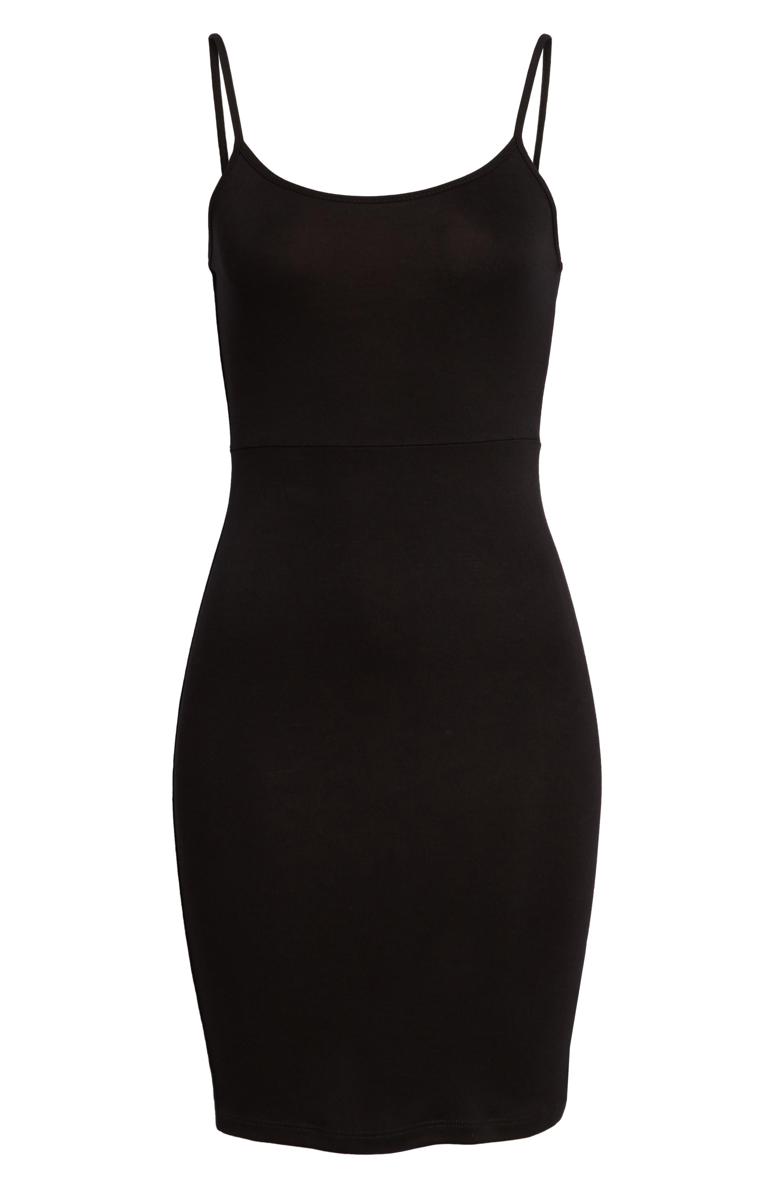 Knit Sheath Dress,                             Alternate thumbnail 6, color,                             001