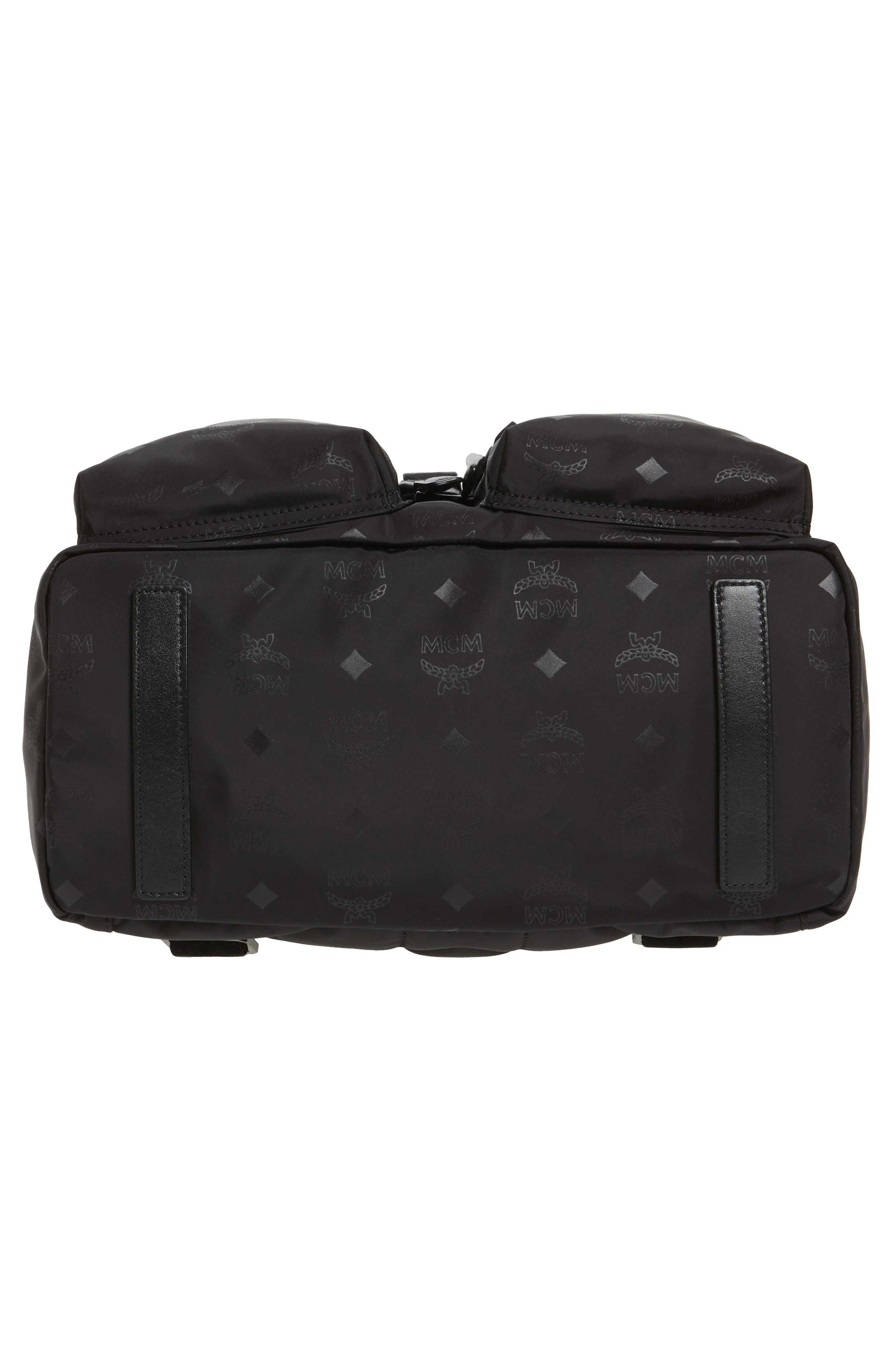 Large Dieter Monogrammed Nylon Backpack,                             Alternate thumbnail 6, color,                             001