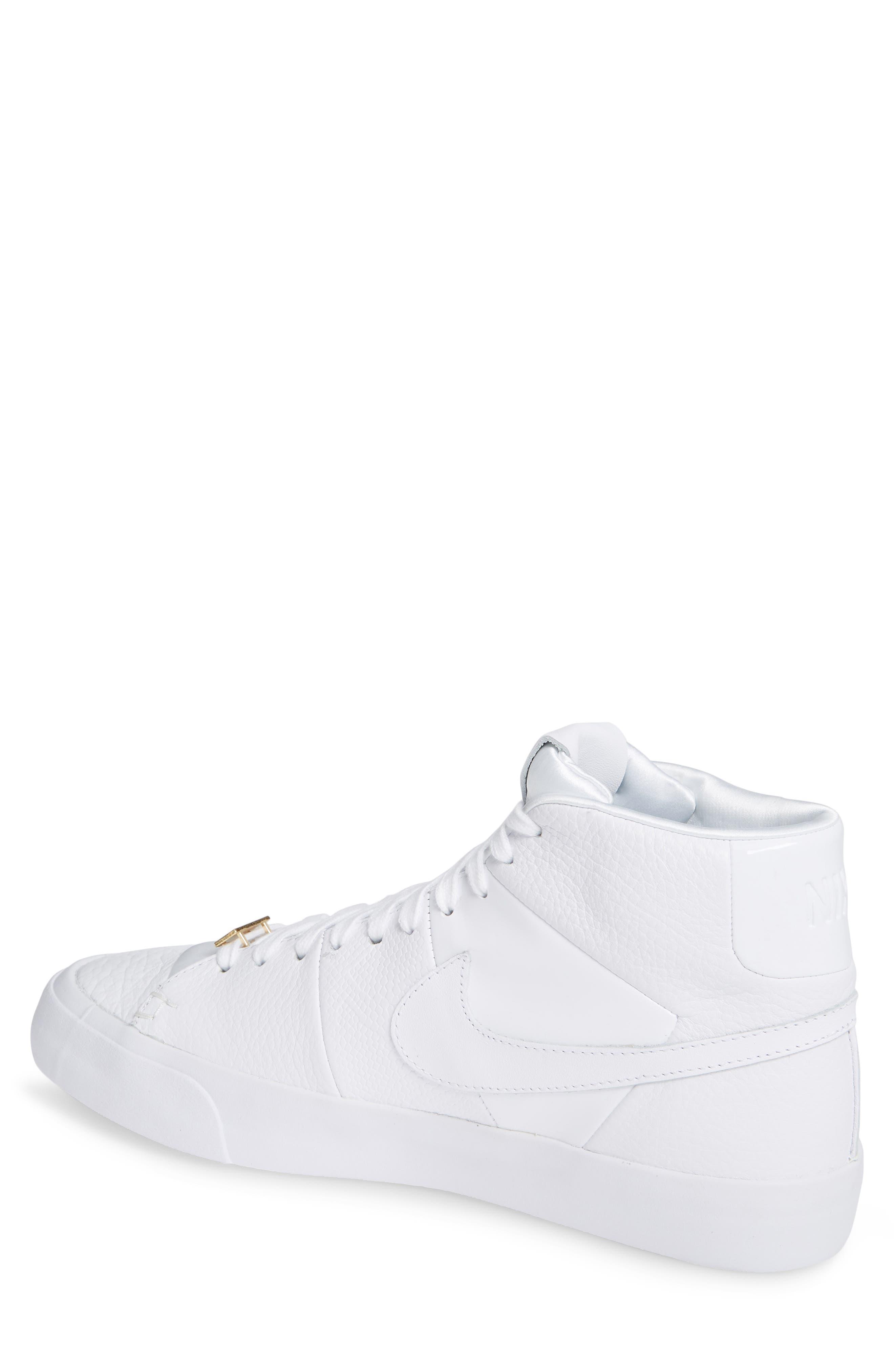 Blazer Royal QS High Top Sneaker,                             Alternate thumbnail 2, color,                             WHITE/ WHITE/ WHITE